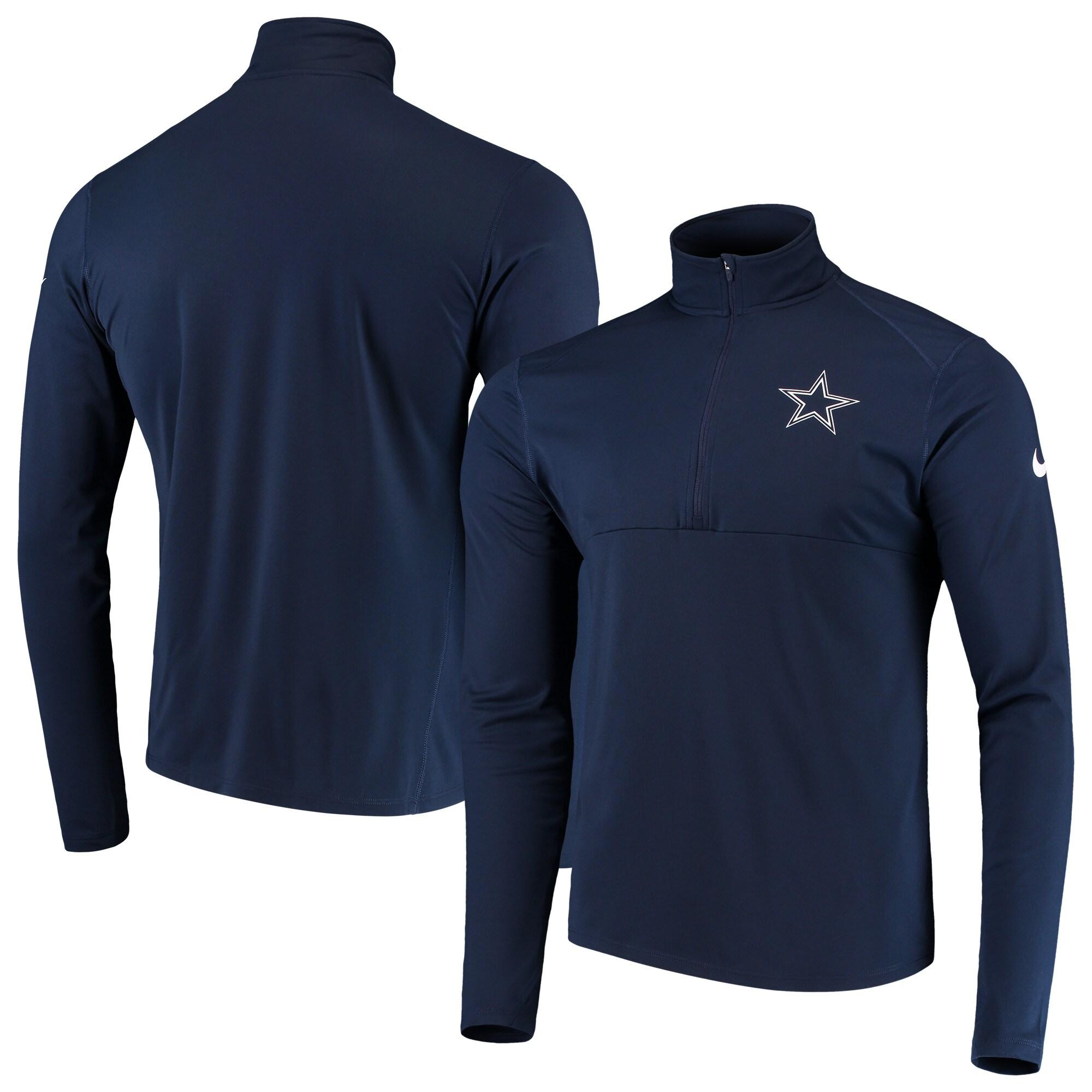 Dallas Cowboys Nike Fan Gear Element Half-Zip Performance Jacket - Navy