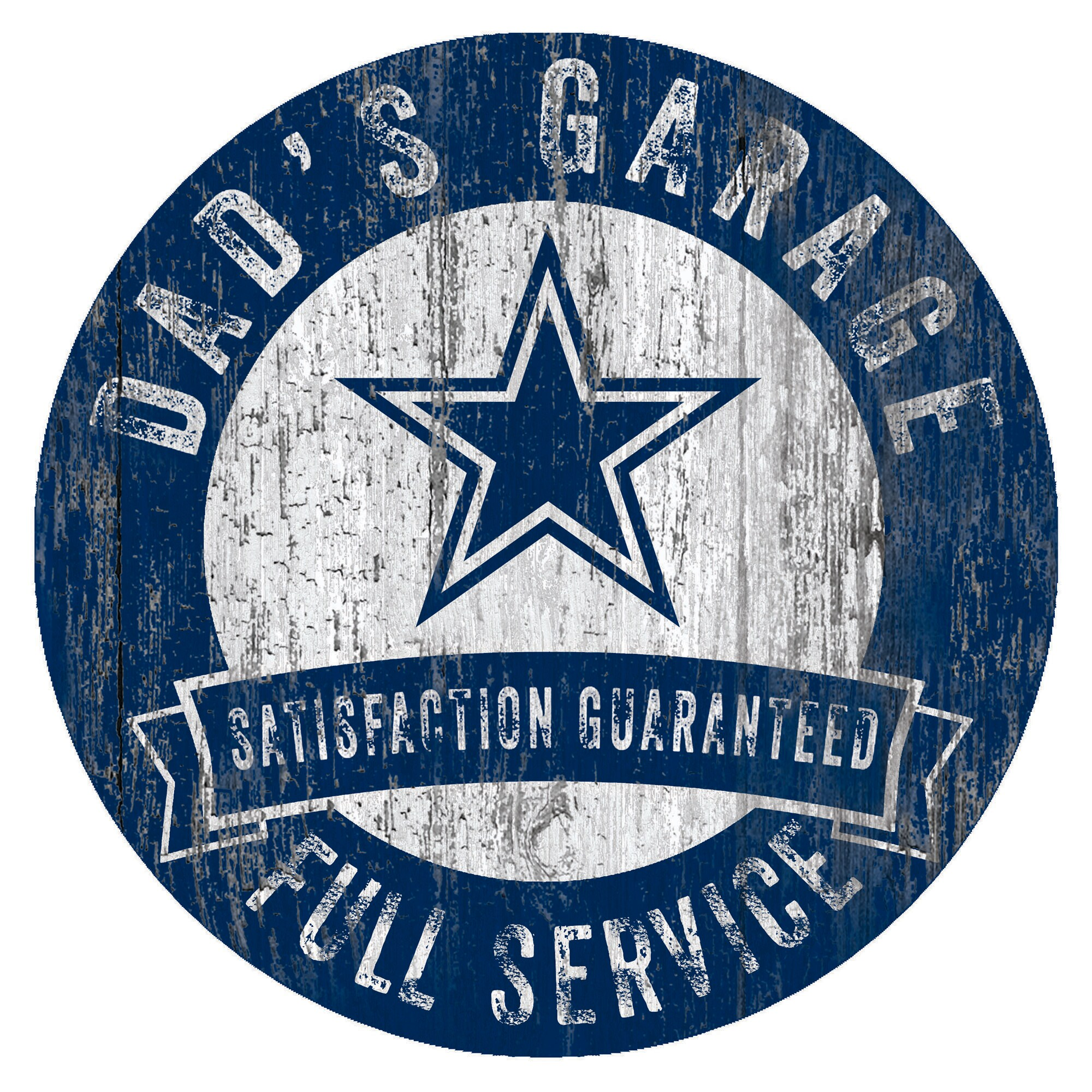 """Dallas Cowboys 12"""" x 12"""" Dad's Garage Sign"""