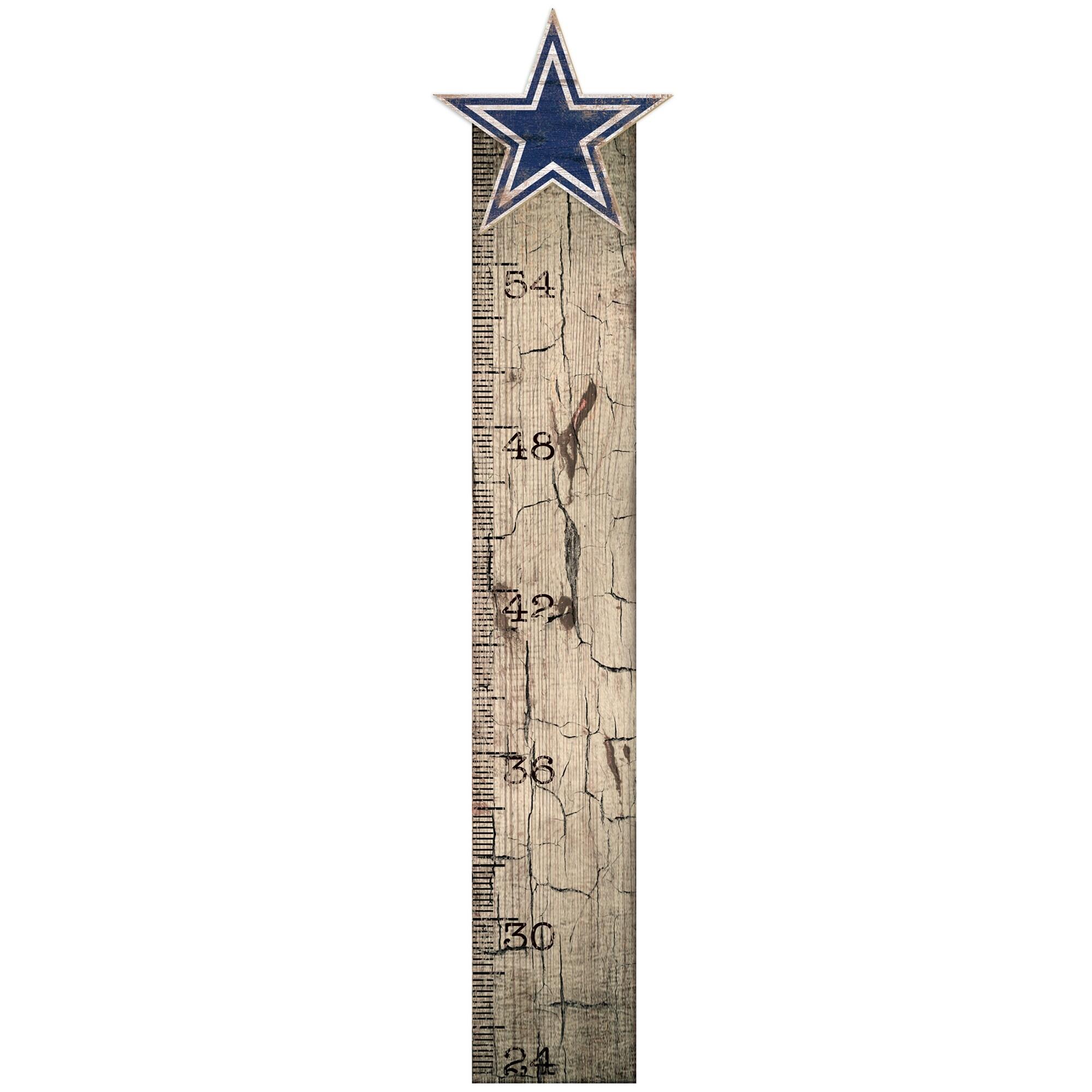 "Dallas Cowboys 6"" x 36"" Growth Chart Sign"