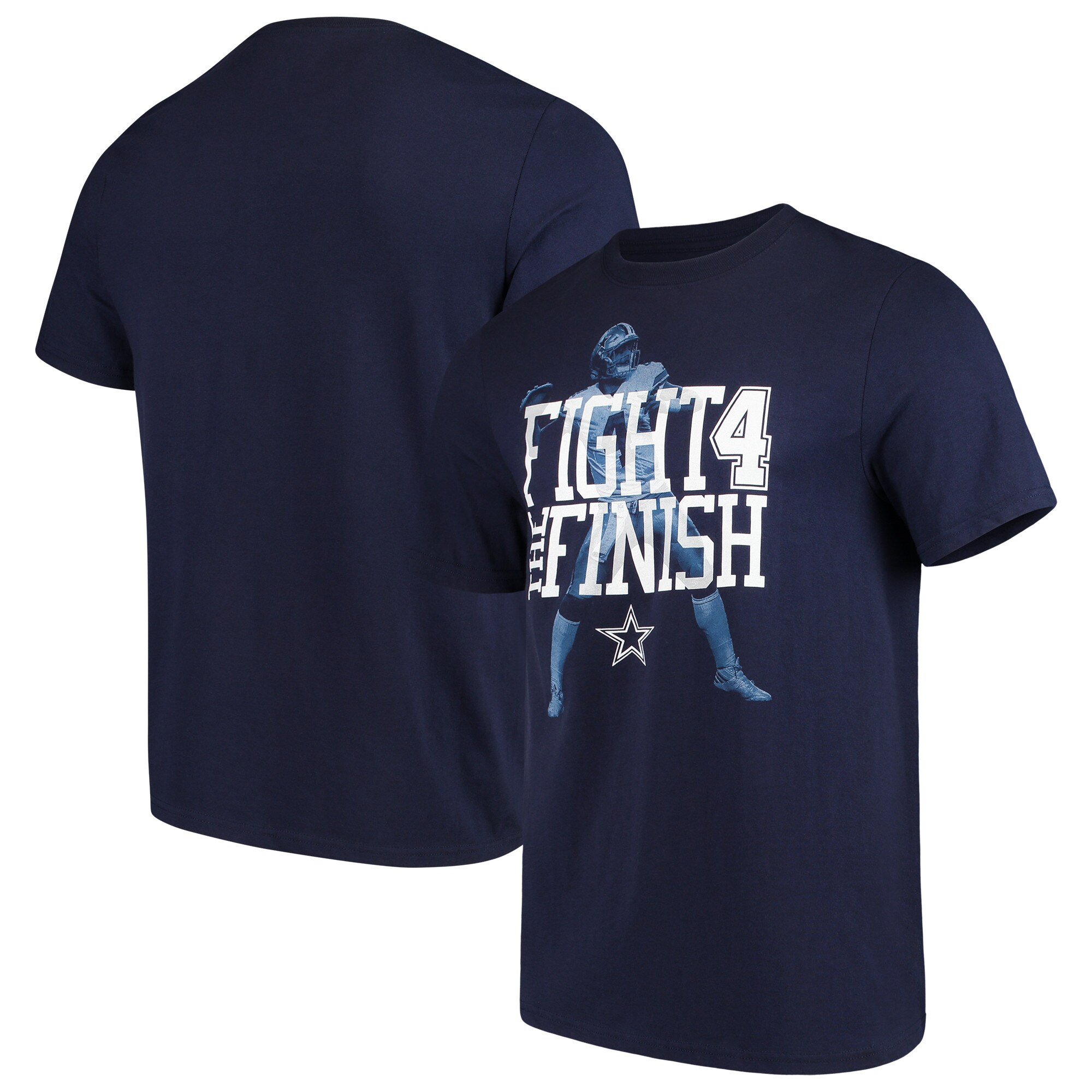 Dak Prescott Dallas Cowboys Wordplay Player T-Shirt - Navy