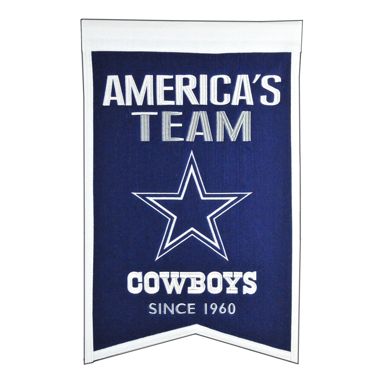 "Dallas Cowboys 14"" x 22"" Team Franchise Banner"