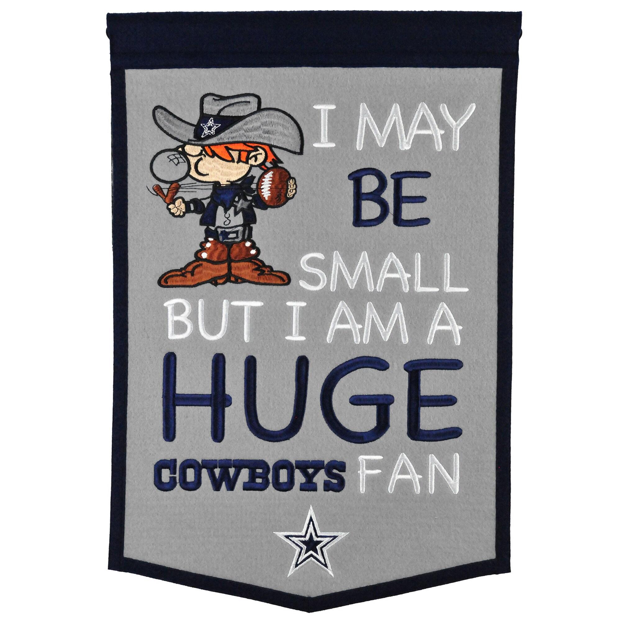 "Dallas Cowboys 12"" x 18"" Lil Fan Traditions Banner"