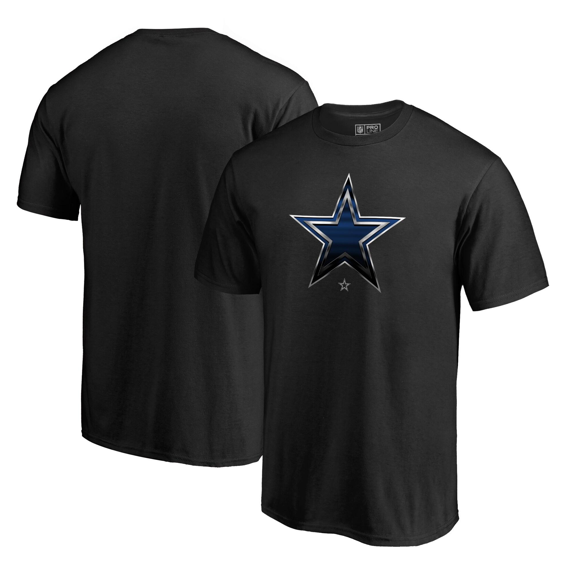 Dallas Cowboys NFL Pro Line by Fanatics Branded Midnight Mascot Big and Tall T-Shirt - Black