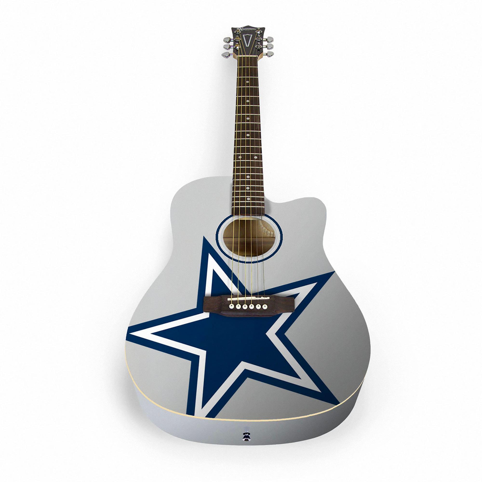 Dallas Cowboys Woodrow Acoustic Guitar