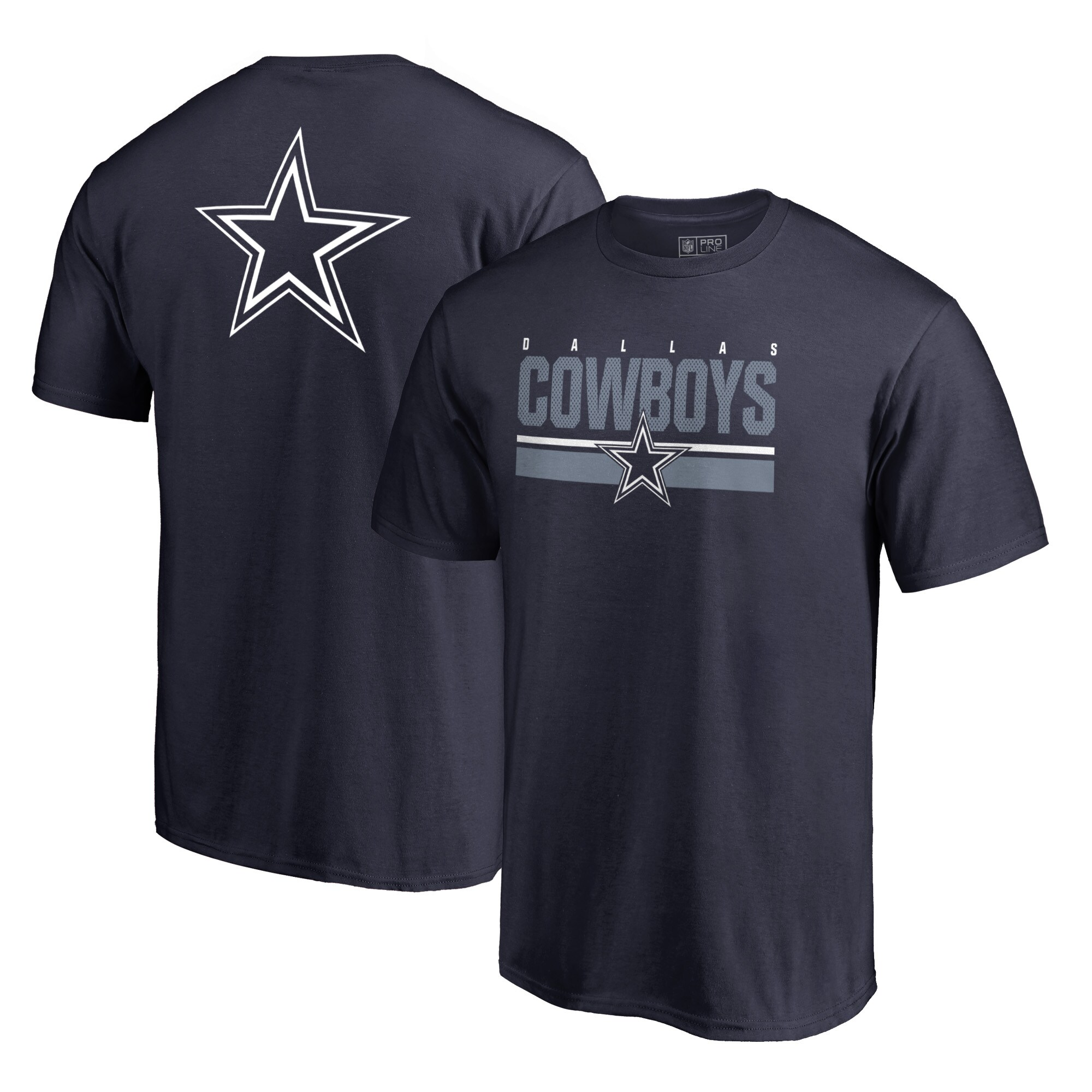 Dallas Cowboys NFL Pro Line by Fanatics Branded End Game T-Shirt - Navy