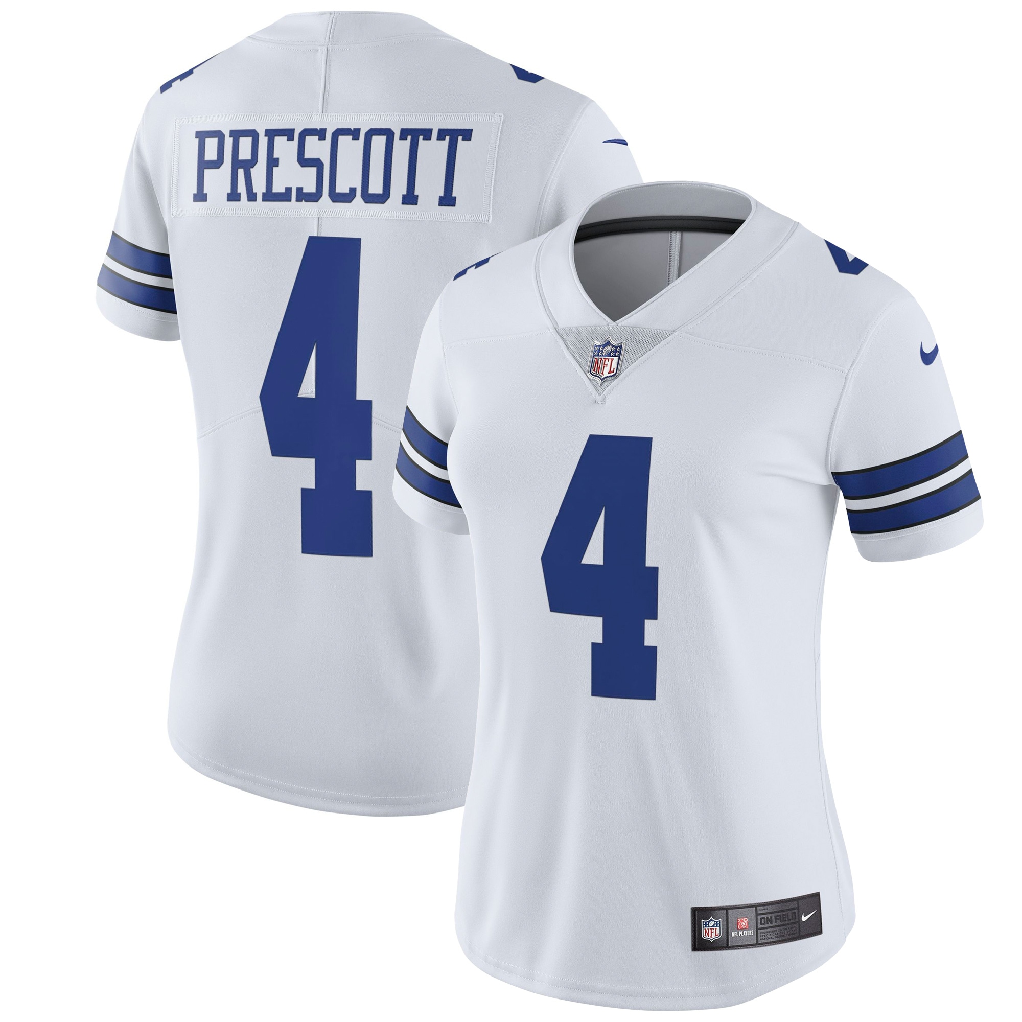 Dak Prescott Dallas Cowboys Nike Women's Vapor Untouchable Limited Jersey - White
