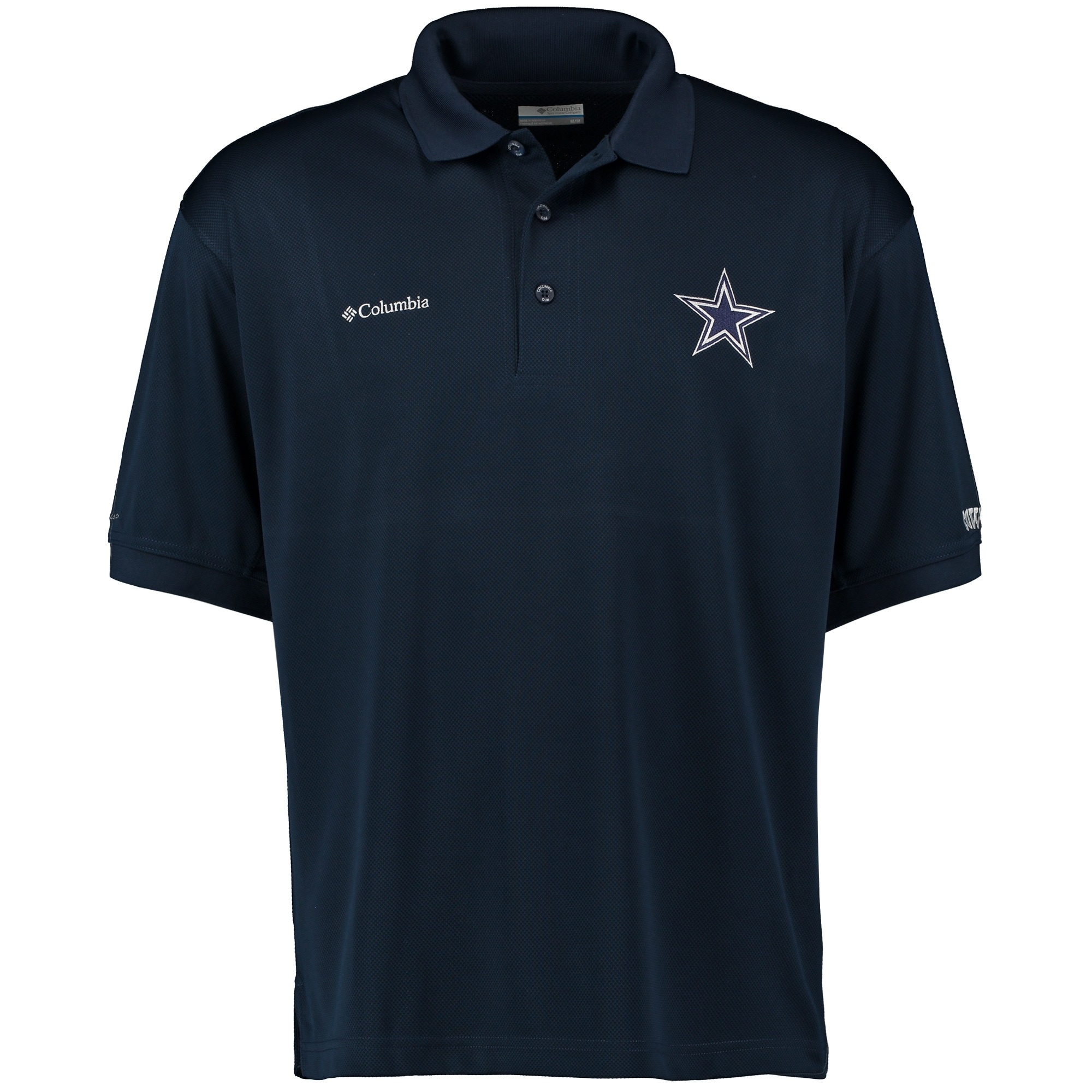 Dallas Cowboys Columbia Perfect Cast Performance Polo - Navy