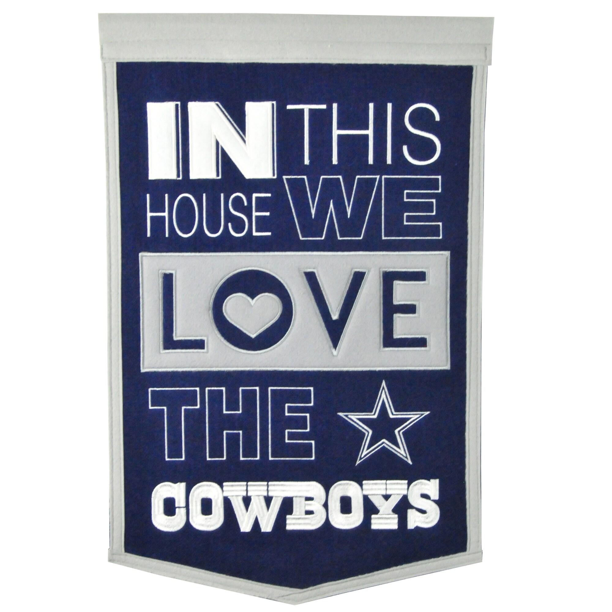 Dallas Cowboys 15'' x 24'' Home Banner