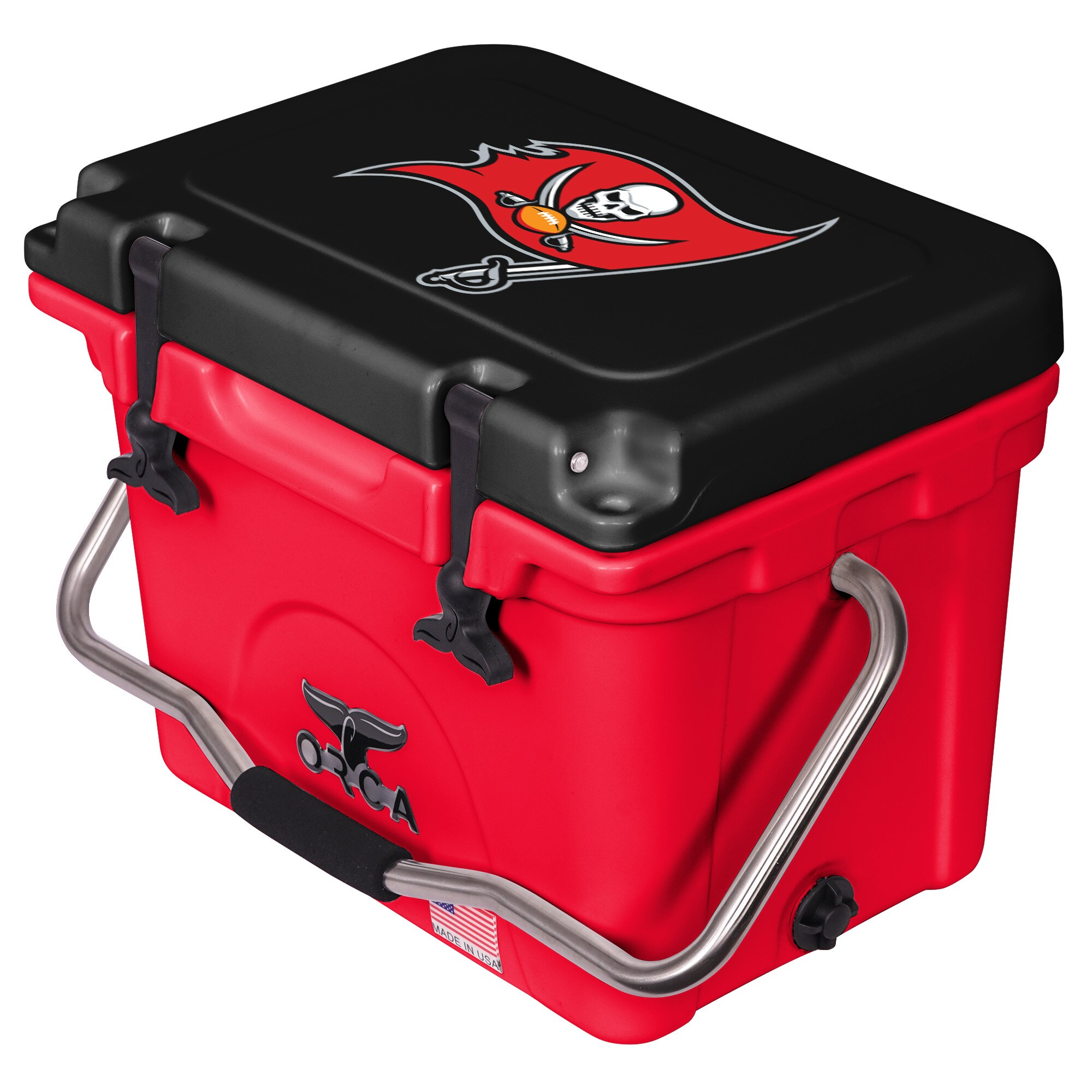 Tampa Bay Buccaneers ORCA 20-Quart Hard-Sided Cooler - Red/Black