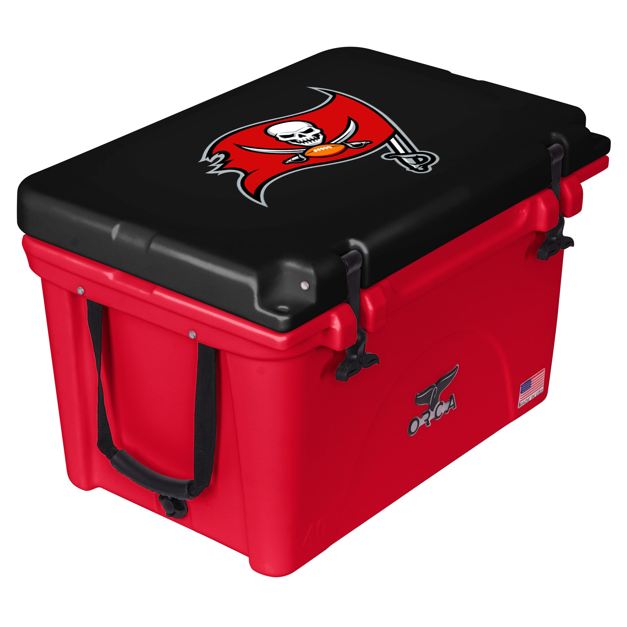 Tampa Bay Buccaneers ORCA 40-Quart Hard-Sided Cooler - Red/Black