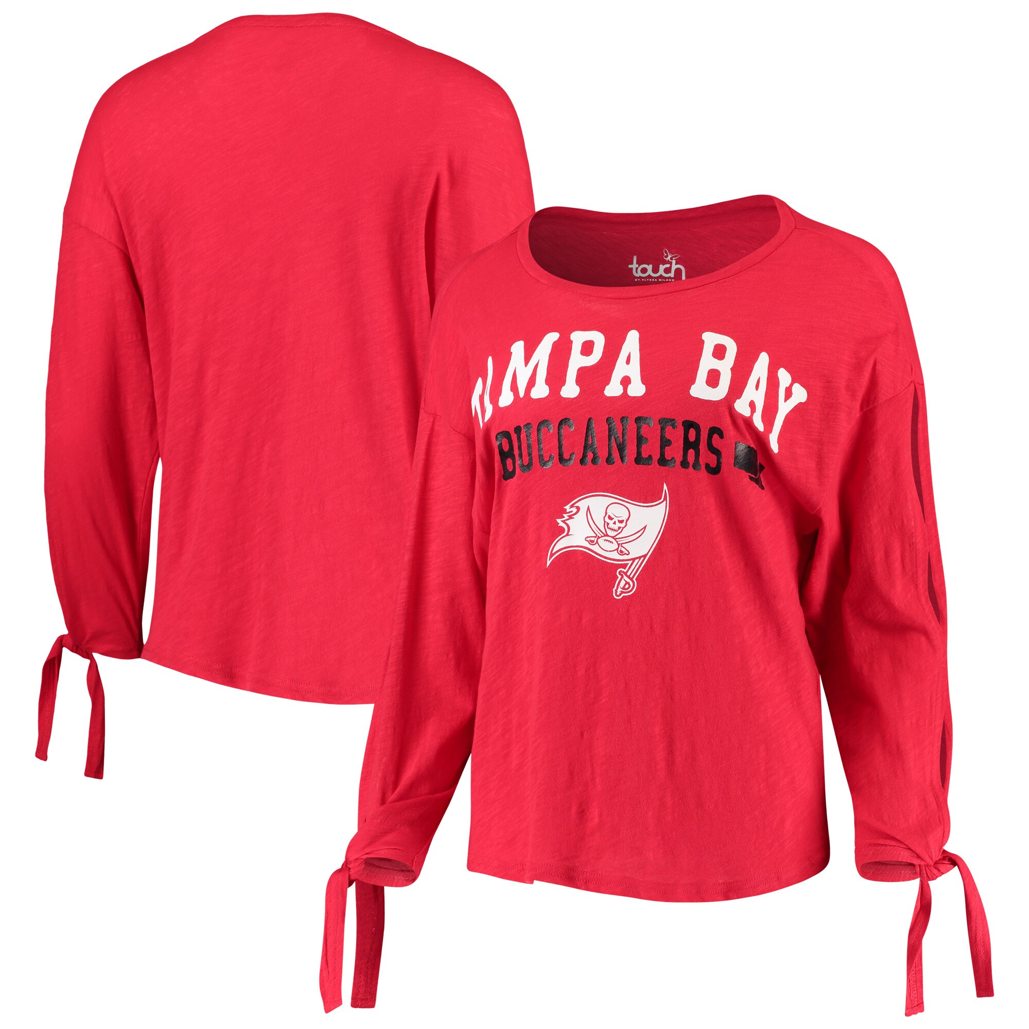 Tampa Bay Buccaneers Touch by Alyssa Milano Women's On The Fly Long Sleeve T-Shirt - Red