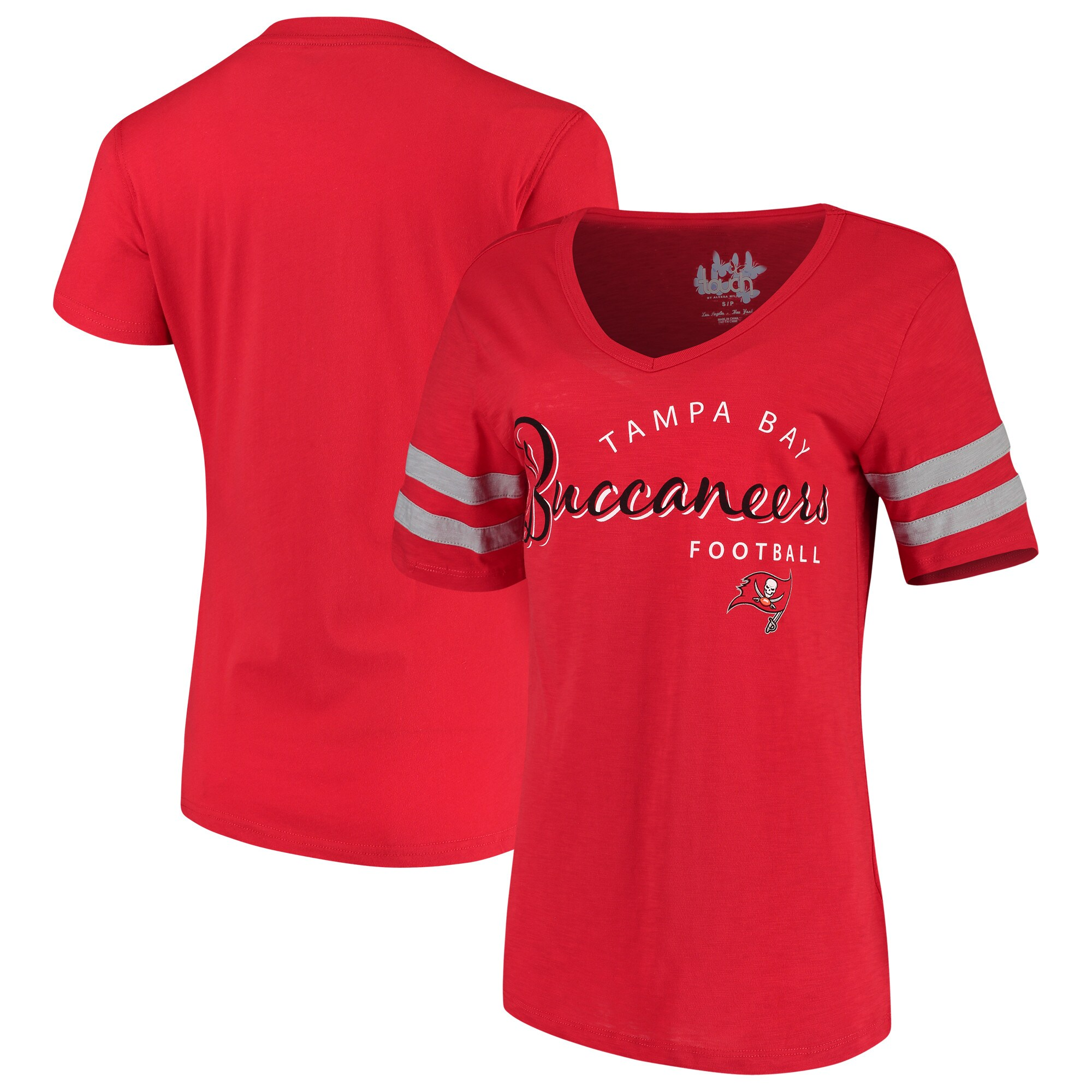 Tampa Bay Buccaneers Touch by Alyssa Milano Women's Triple Play V-Neck T-Shirt - Red