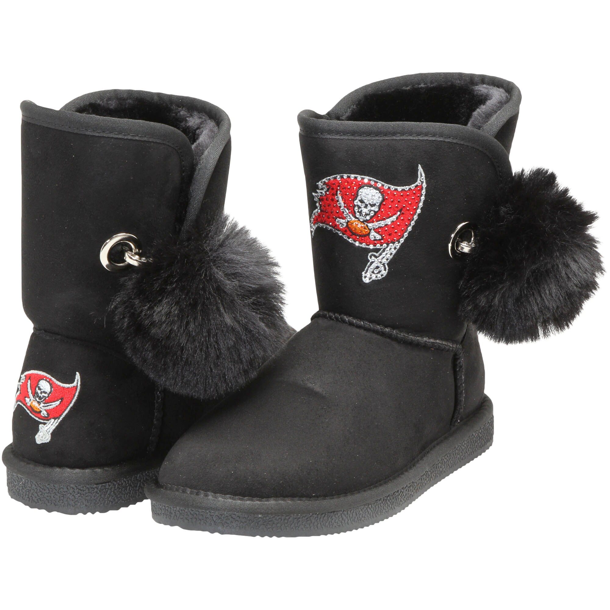 Tampa Bay Buccaneers Cuce Women's The Fumble Faux Fur Boots - Black