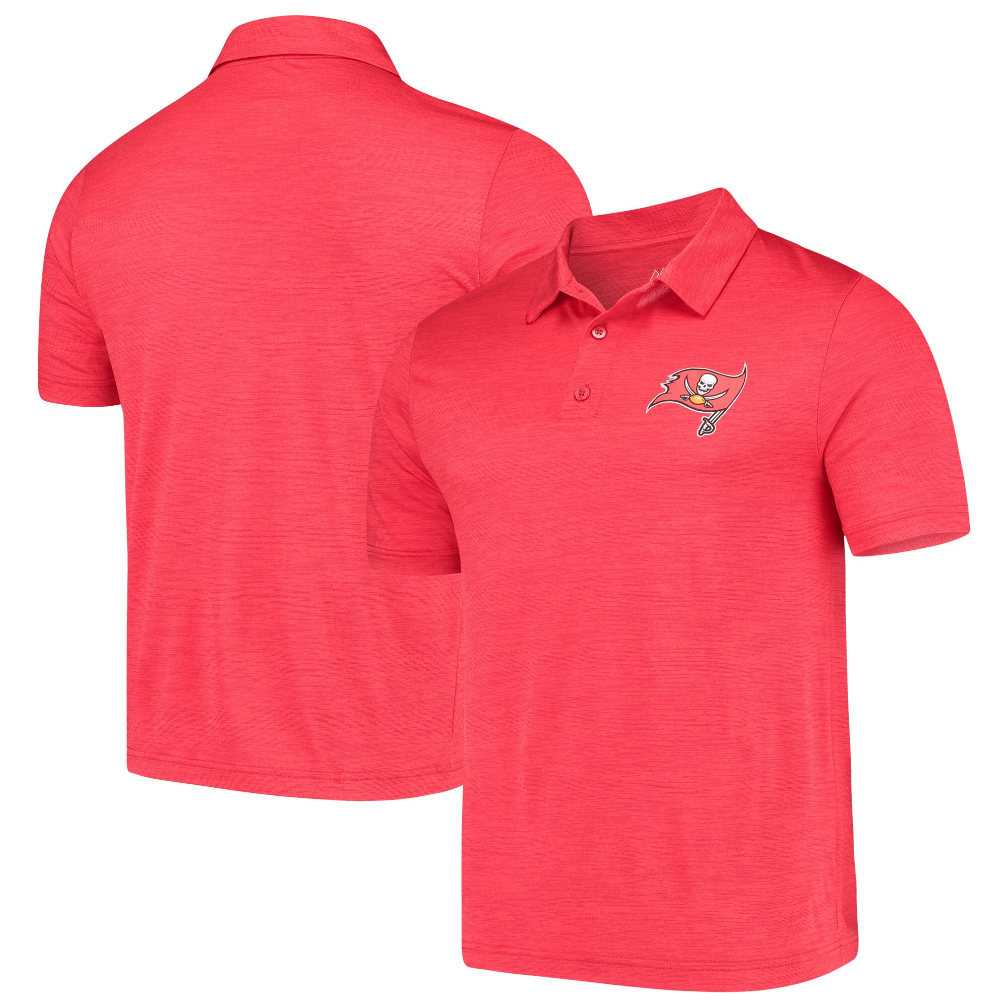 Tampa Bay Buccaneers Majestic Iconic Positive Production Polo - Heathered Red