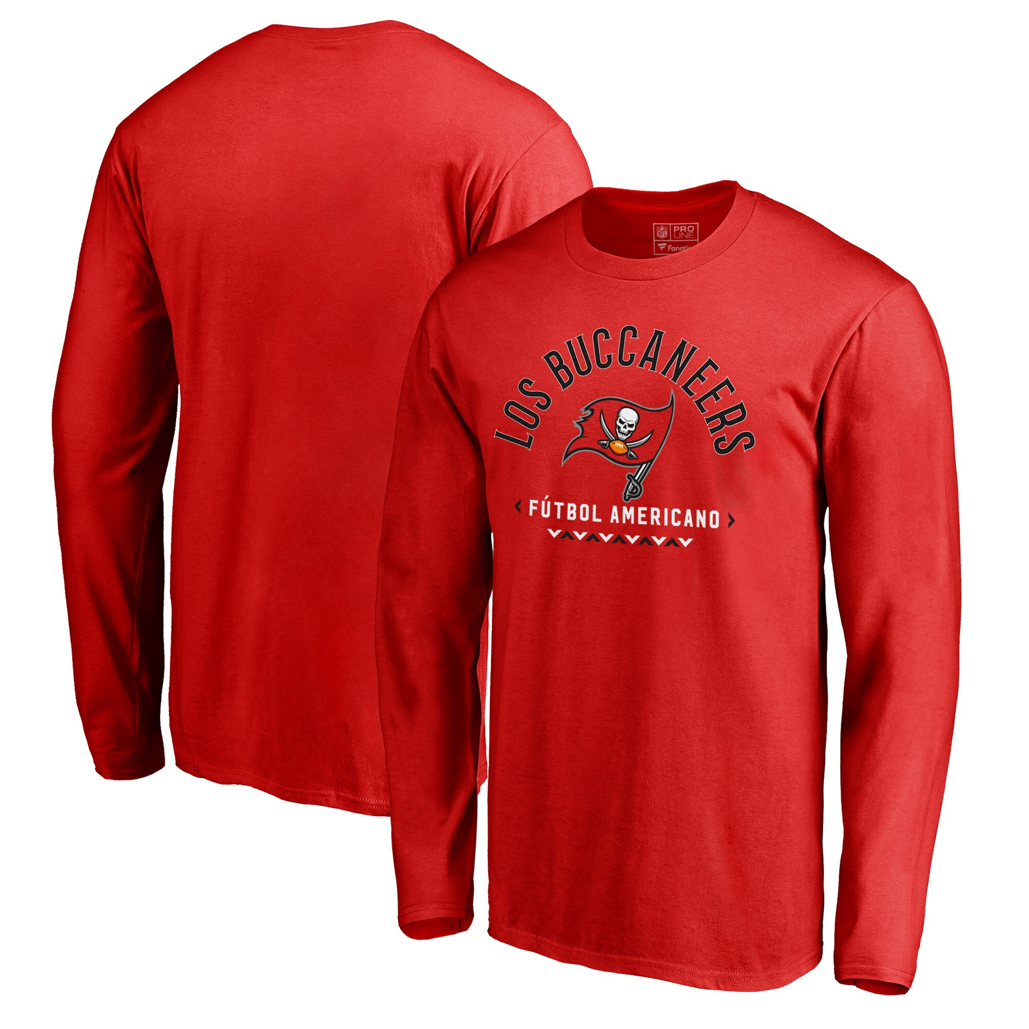 Tampa Bay Buccaneers NFL Pro Line by Fanatics Branded Futbol Americano Long Sleeve T-Shirt - Red