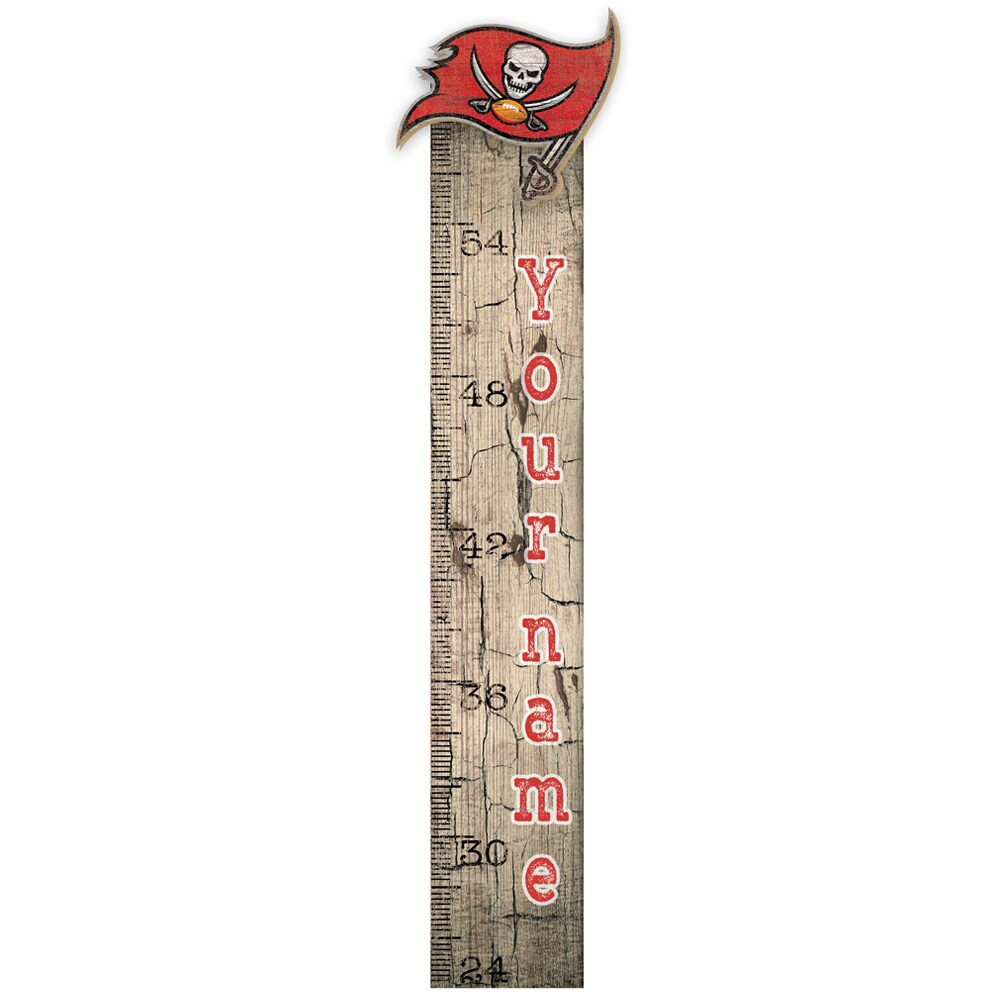 "Tampa Bay Buccaneers 6"" x 36"" Personalized Growth Chart Sign"