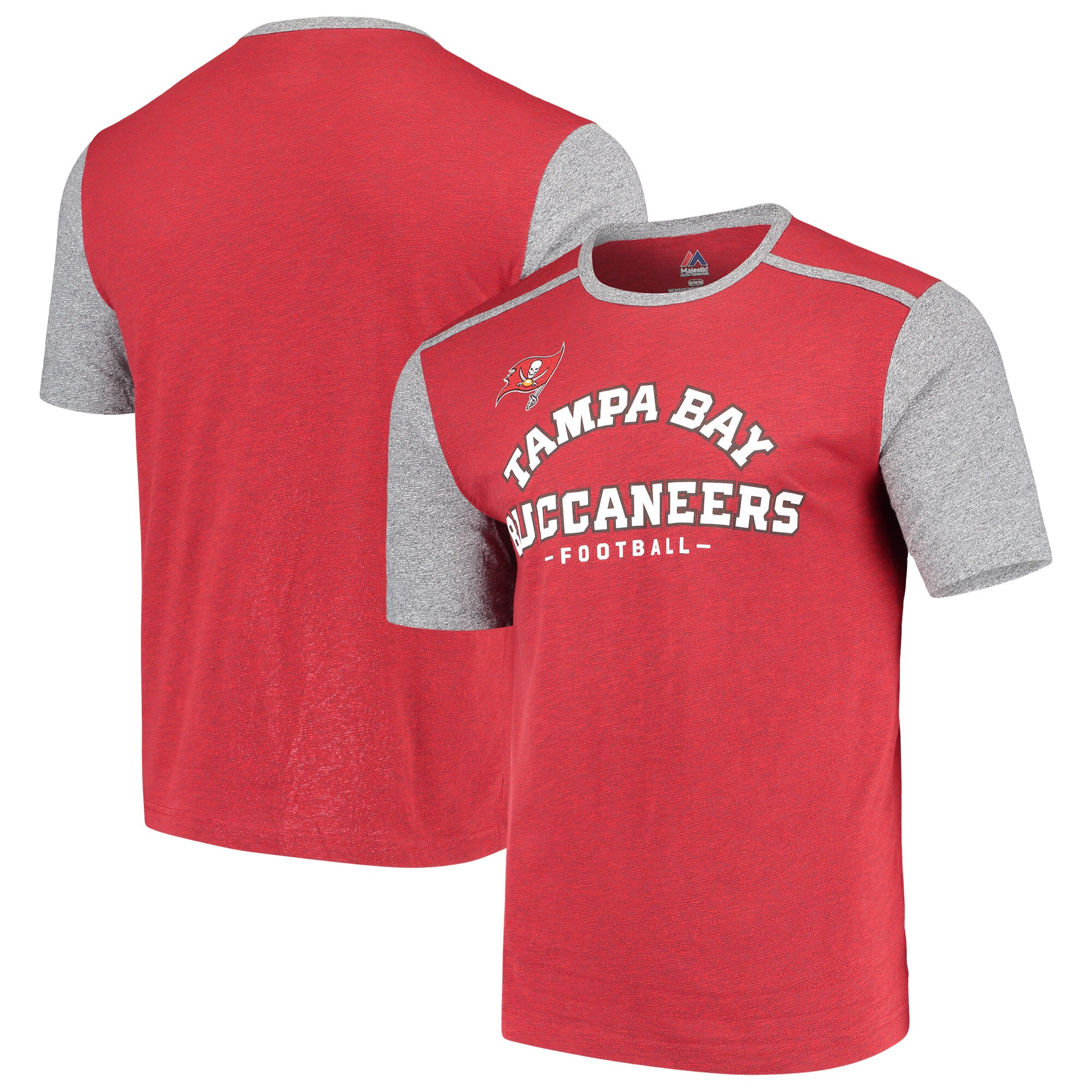Tampa Bay Buccaneers Majestic Aim for the Sky T-Shirt - Red/Gray