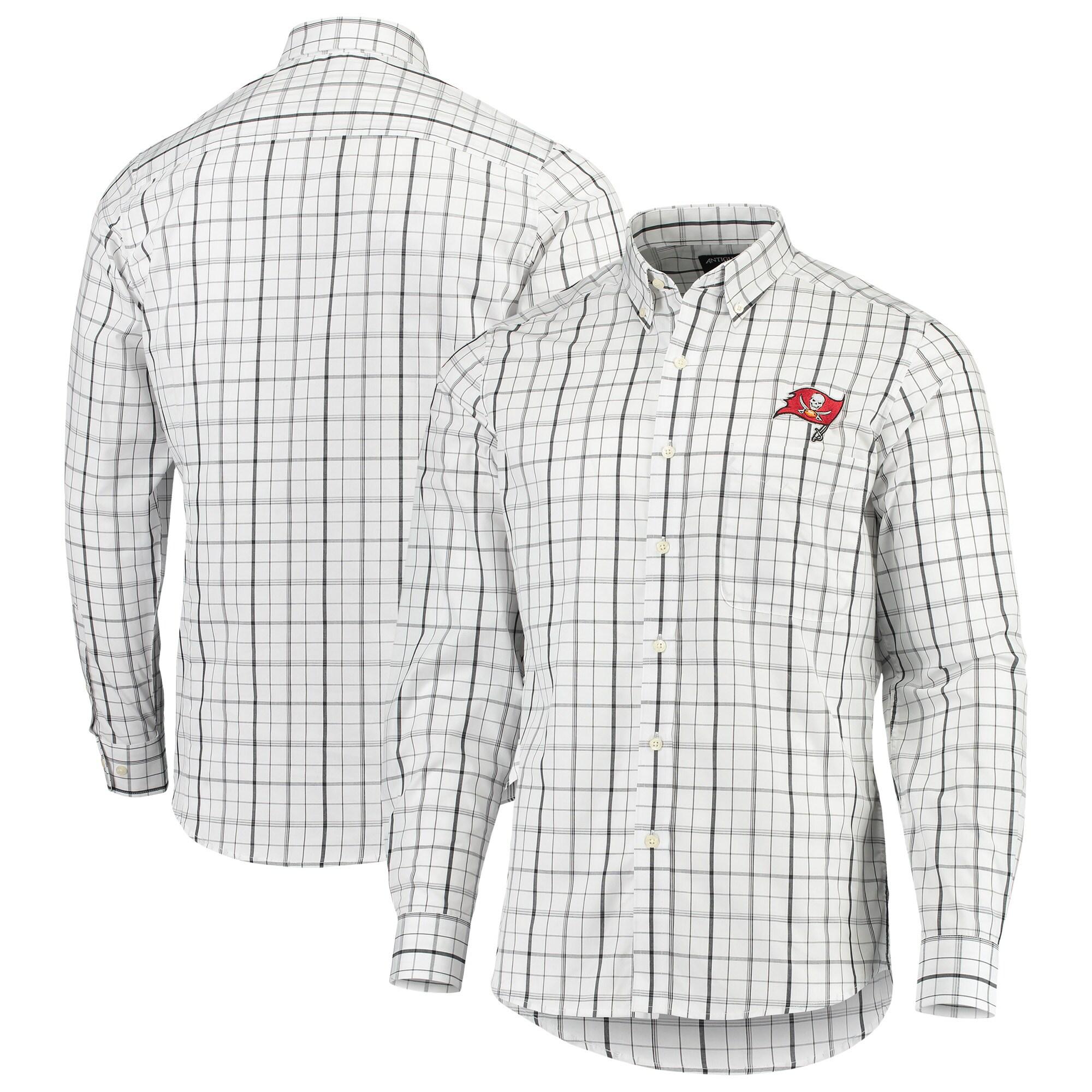 Tampa Bay Buccaneers Antigua Keen Long Sleeve Button-Down Shirt - White/Black