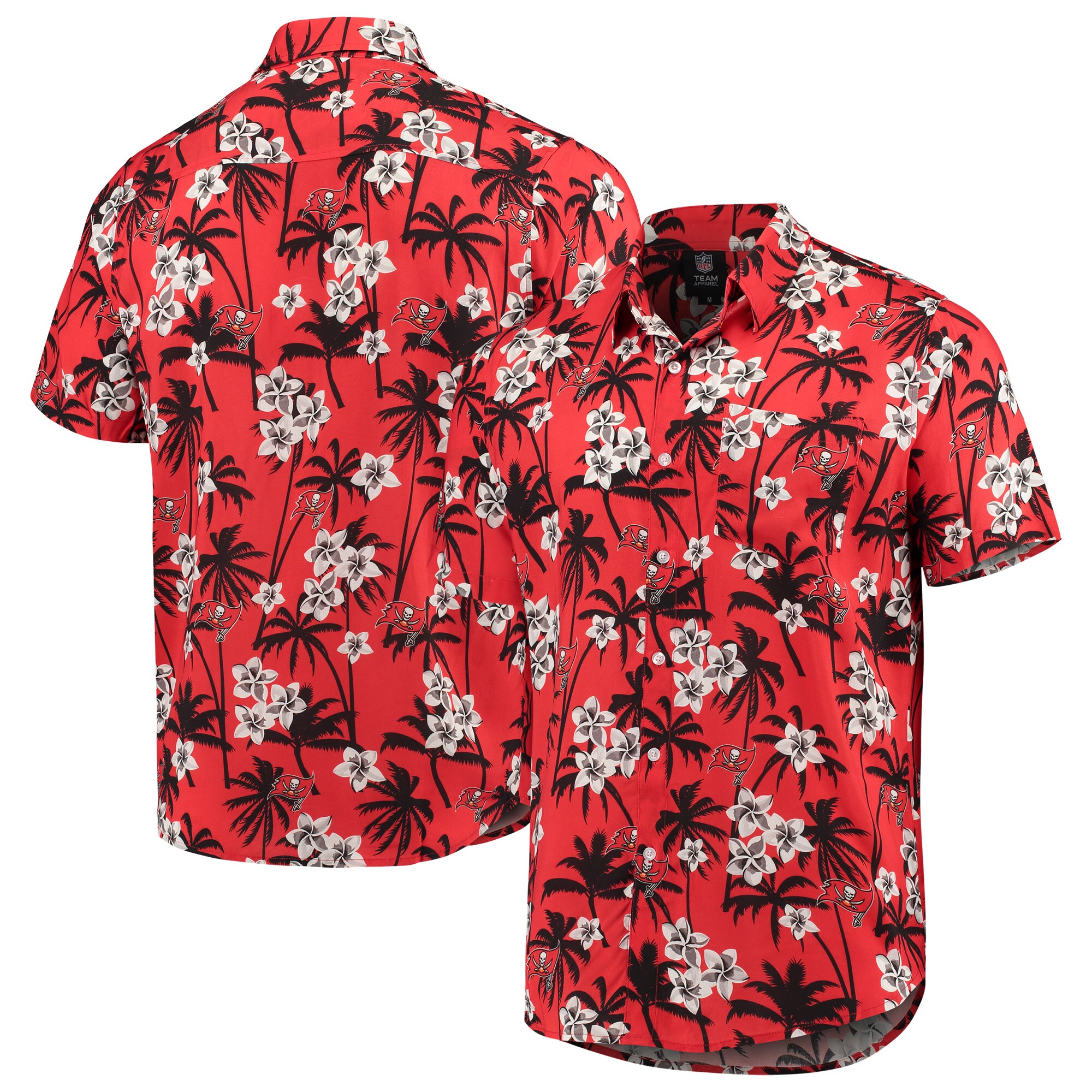 Tampa Bay Buccaneers Floral Woven Button-Up Shirt - Red
