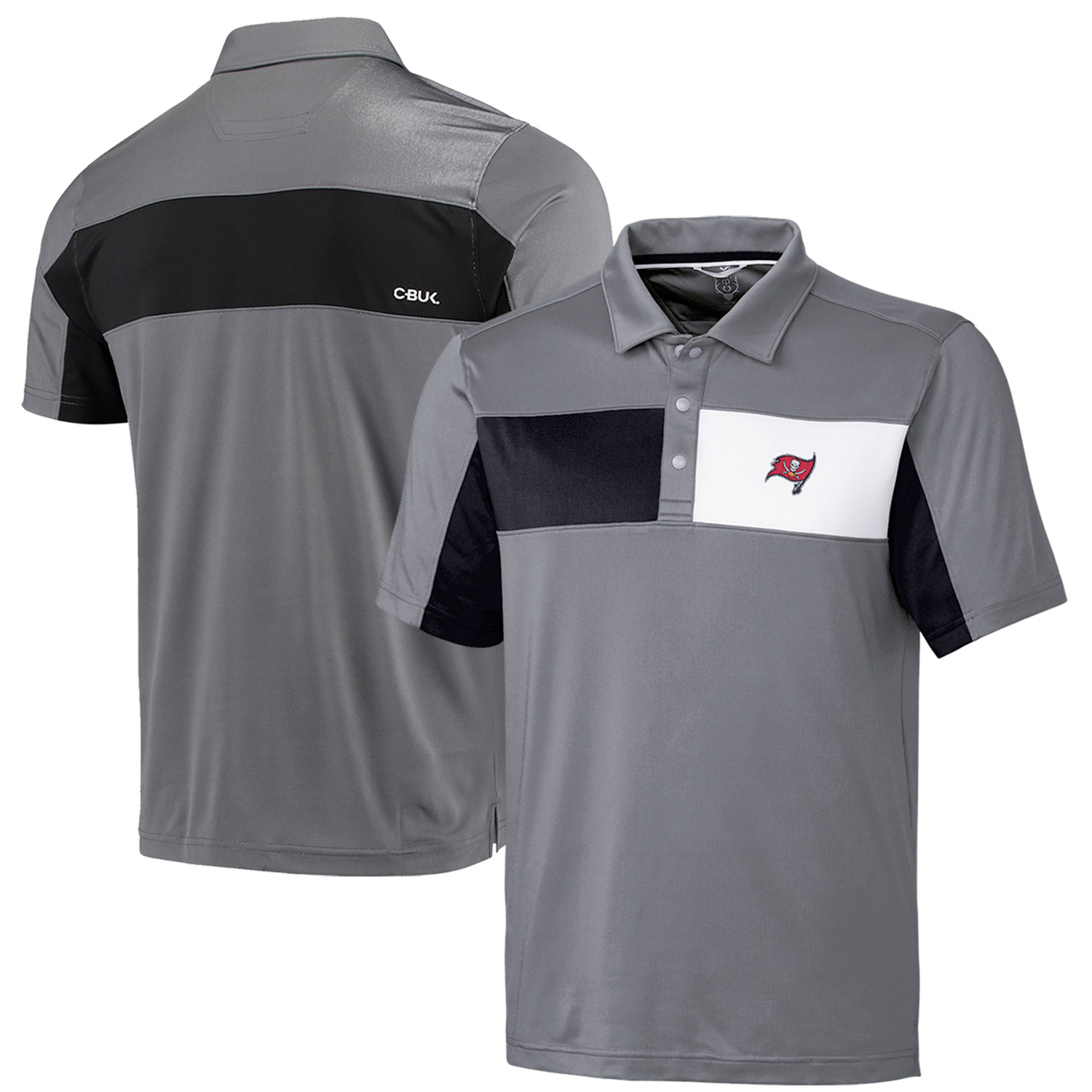 Tampa Bay Buccaneers CBUK by Cutter & Buck Logan Polo - Gray