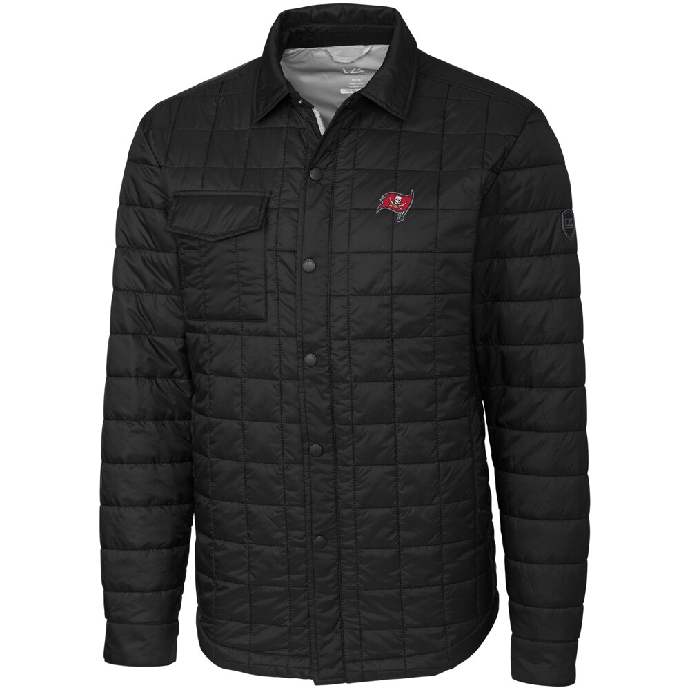 Tampa Bay Buccaneers Cutter & Buck Big & Tall Rainier Shirt Jacket - Black