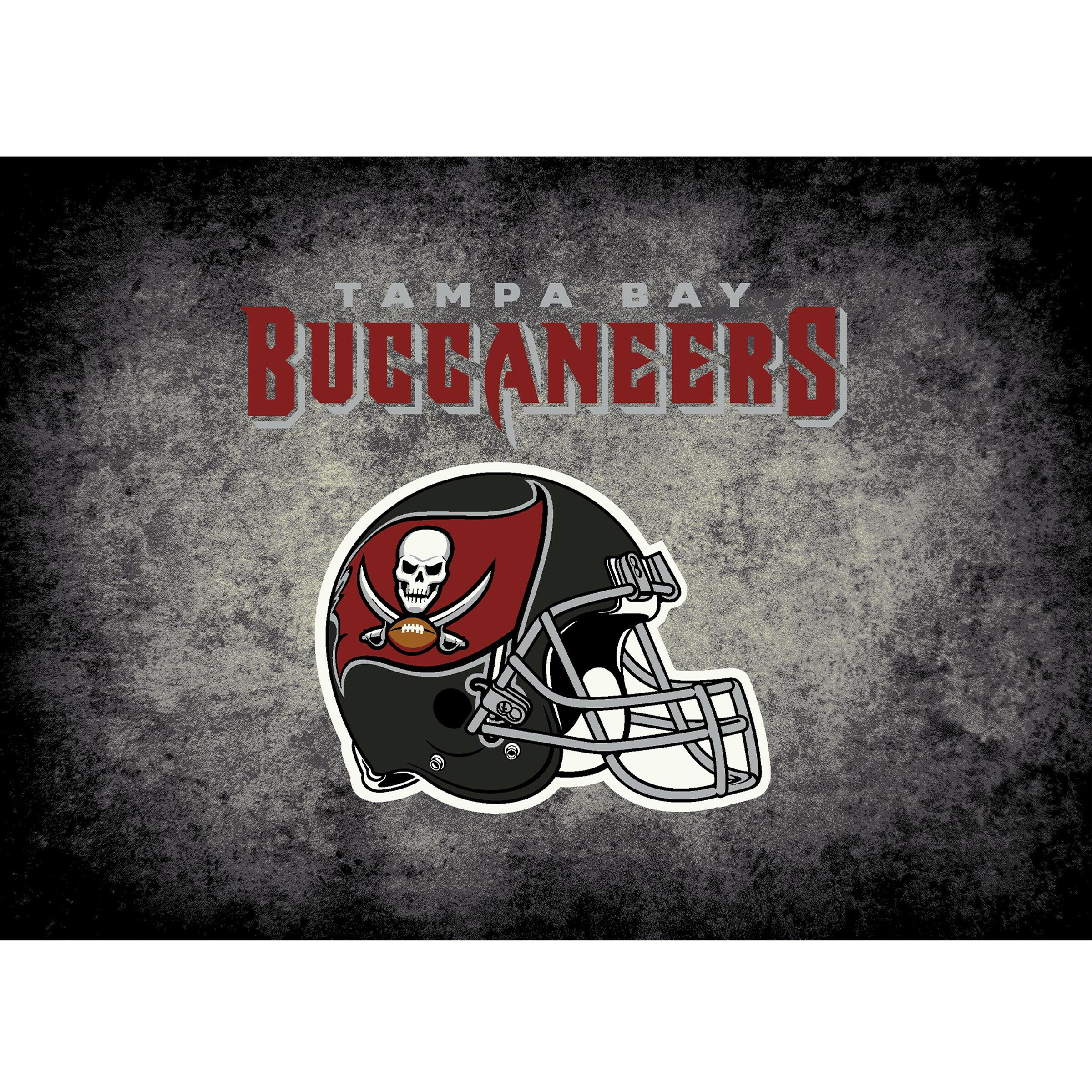 Tampa Bay Buccaneers Imperial 4' x 6' Distressed Rug