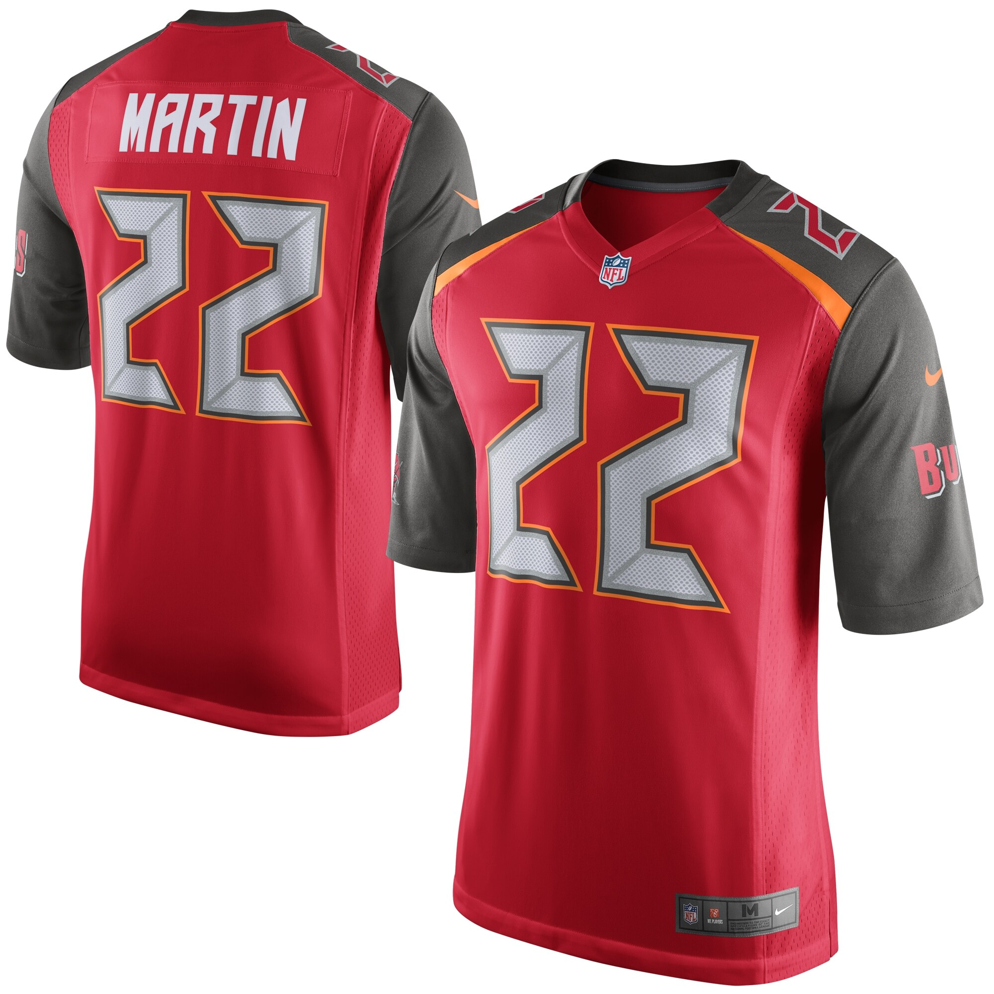 Doug Martin Tampa Bay Buccaneers Nike Youth Team Color Game Jersey - Red