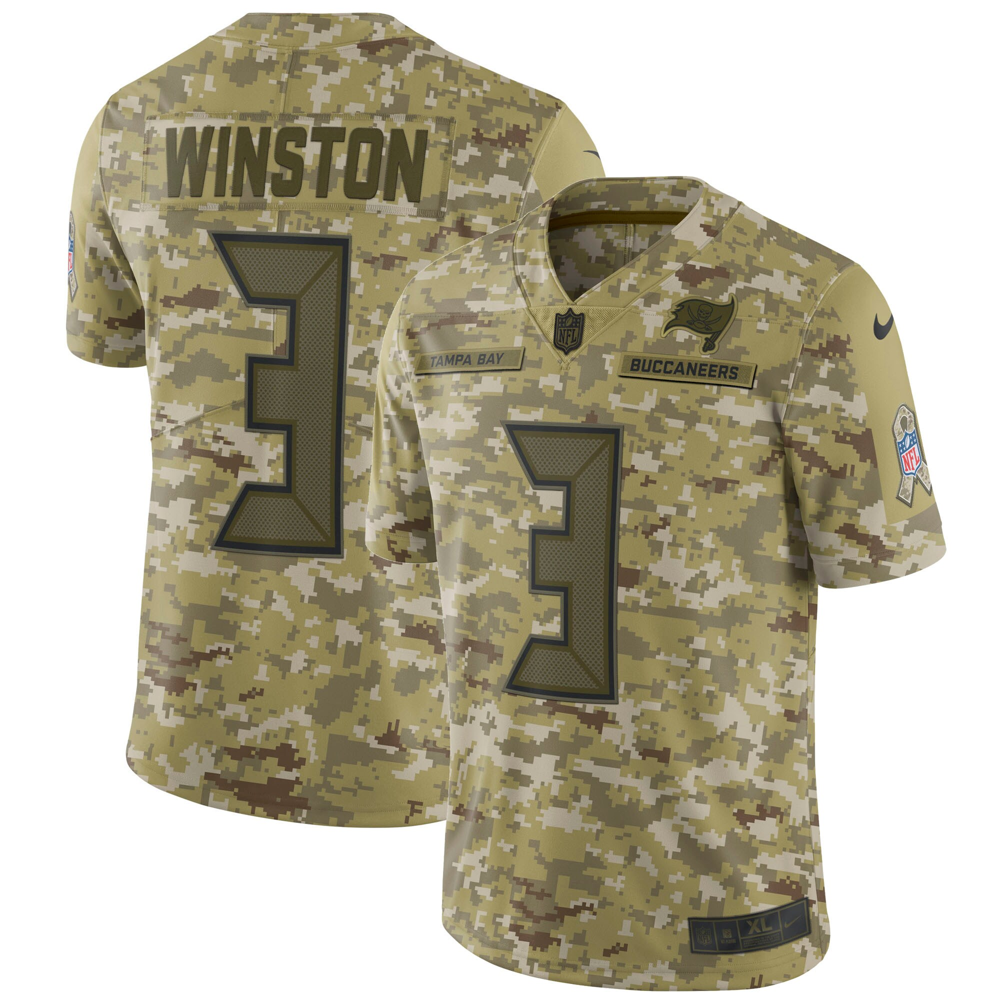 Jameis Winston Tampa Bay Buccaneers Nike Salute to Service Limited Jersey - Camo