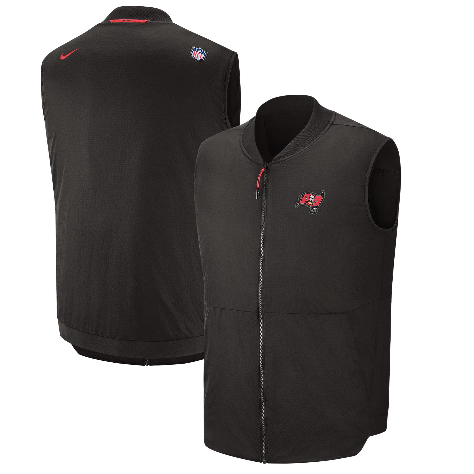 Tampa Bay Buccaneers Nike Sideline Full-Zip Vest - Pewter
