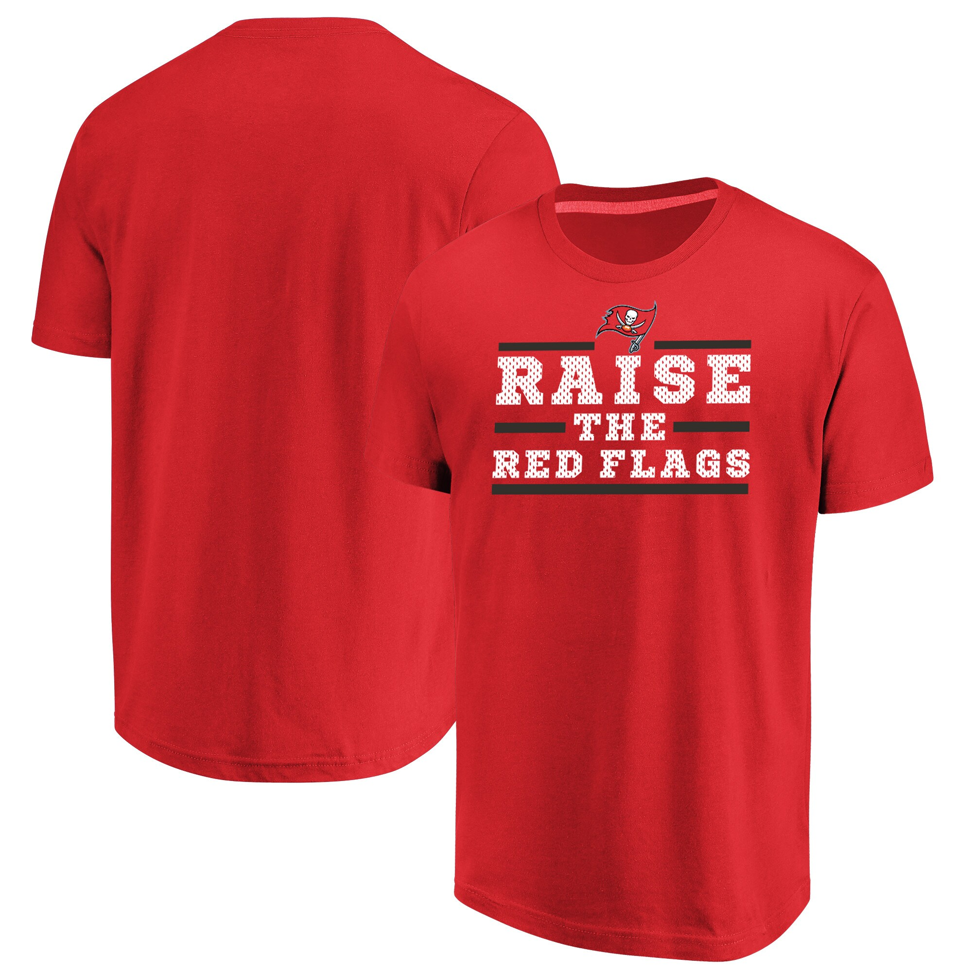 Tampa Bay Buccaneers Majestic Big & Tall Safety Blitz T-Shirt - Red