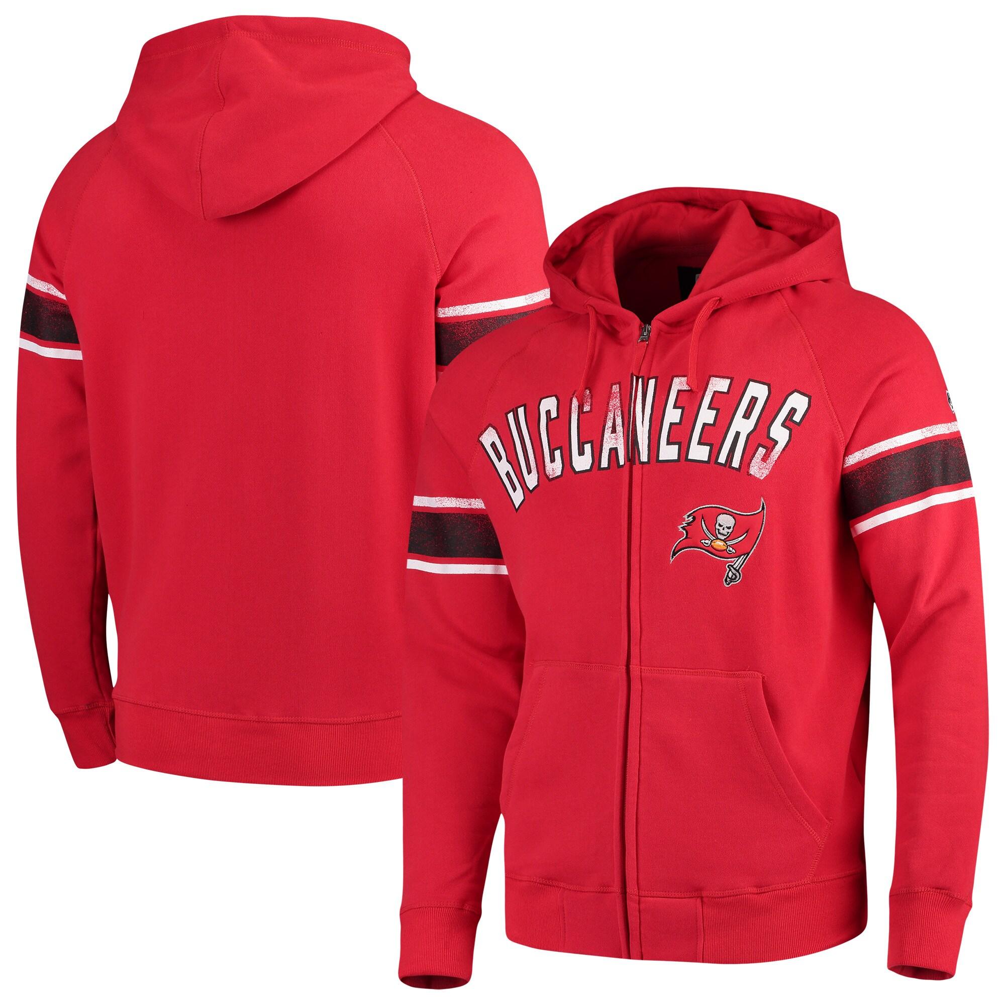 Tampa Bay Buccaneers Hands High Arena Full-Zip Hoodie - Red