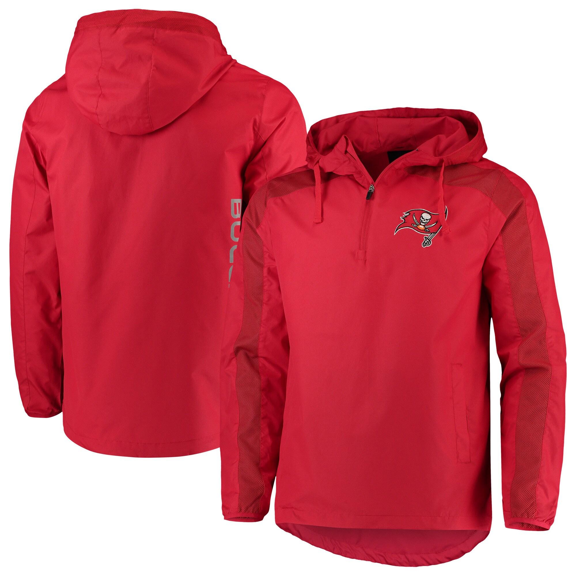 Tampa Bay Buccaneers G-III Sports by Carl Banks Lineup Hooded Half-Zip Jacket - Red