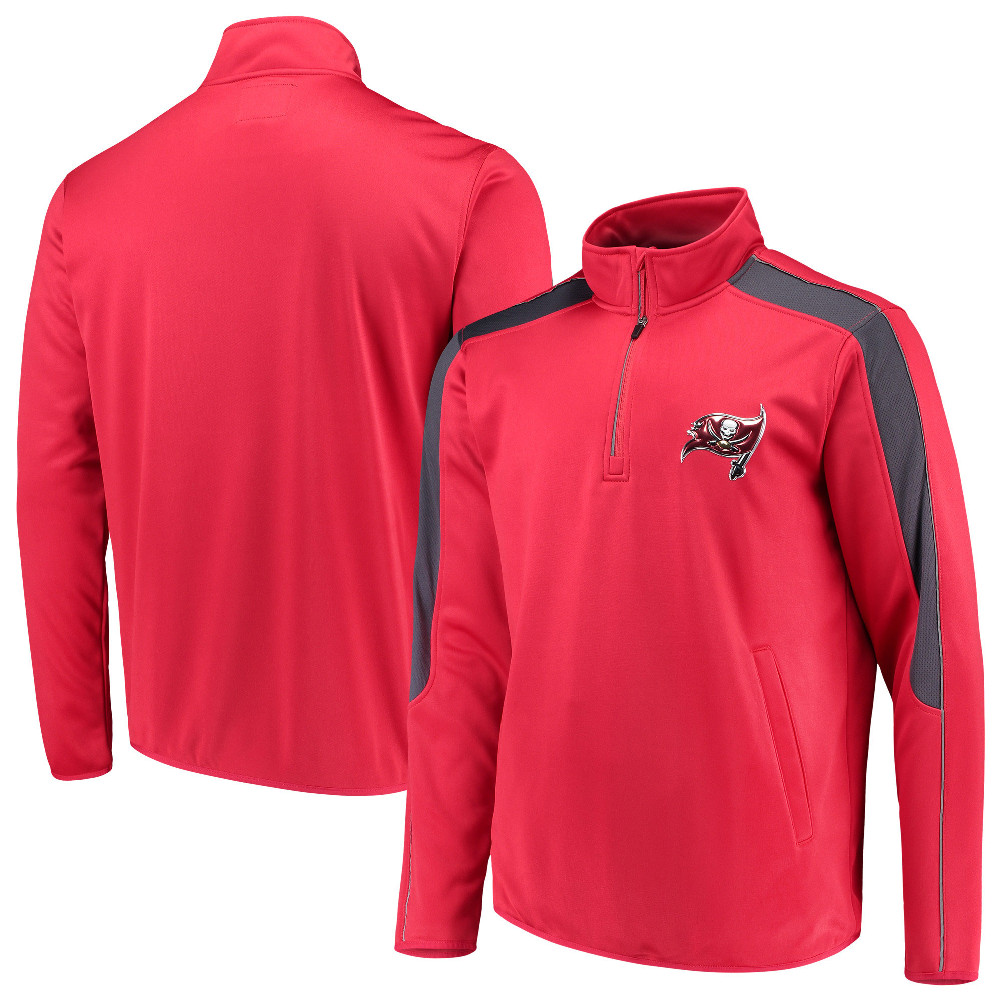 Tampa Bay Buccaneers G-III Sports by Carl Banks I Formation Quarter-Zip Pullover Jacket - Red