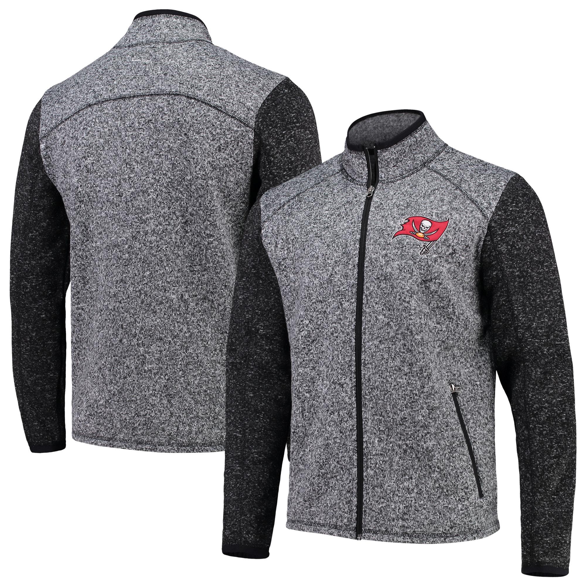 Tampa Bay Buccaneers G-III Sports by Carl Banks Alpine Zone Sweater Fleece Full-Zip Jacket - Heathered Charcoal