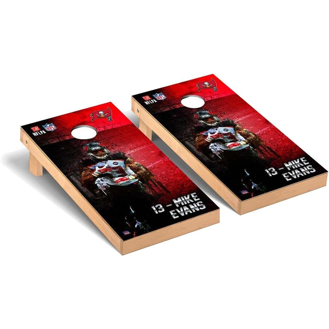 Mike Evans Tampa Bay Buccaneers 2' x 4' NFLPA Player Cornhole Board Tailgate Toss Set