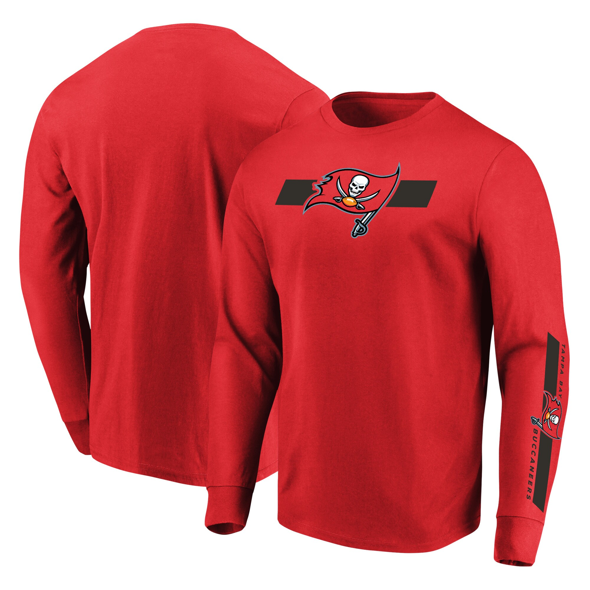 Tampa Bay Buccaneers Majestic Dual Threat Long Sleeve T-Shirt - Red