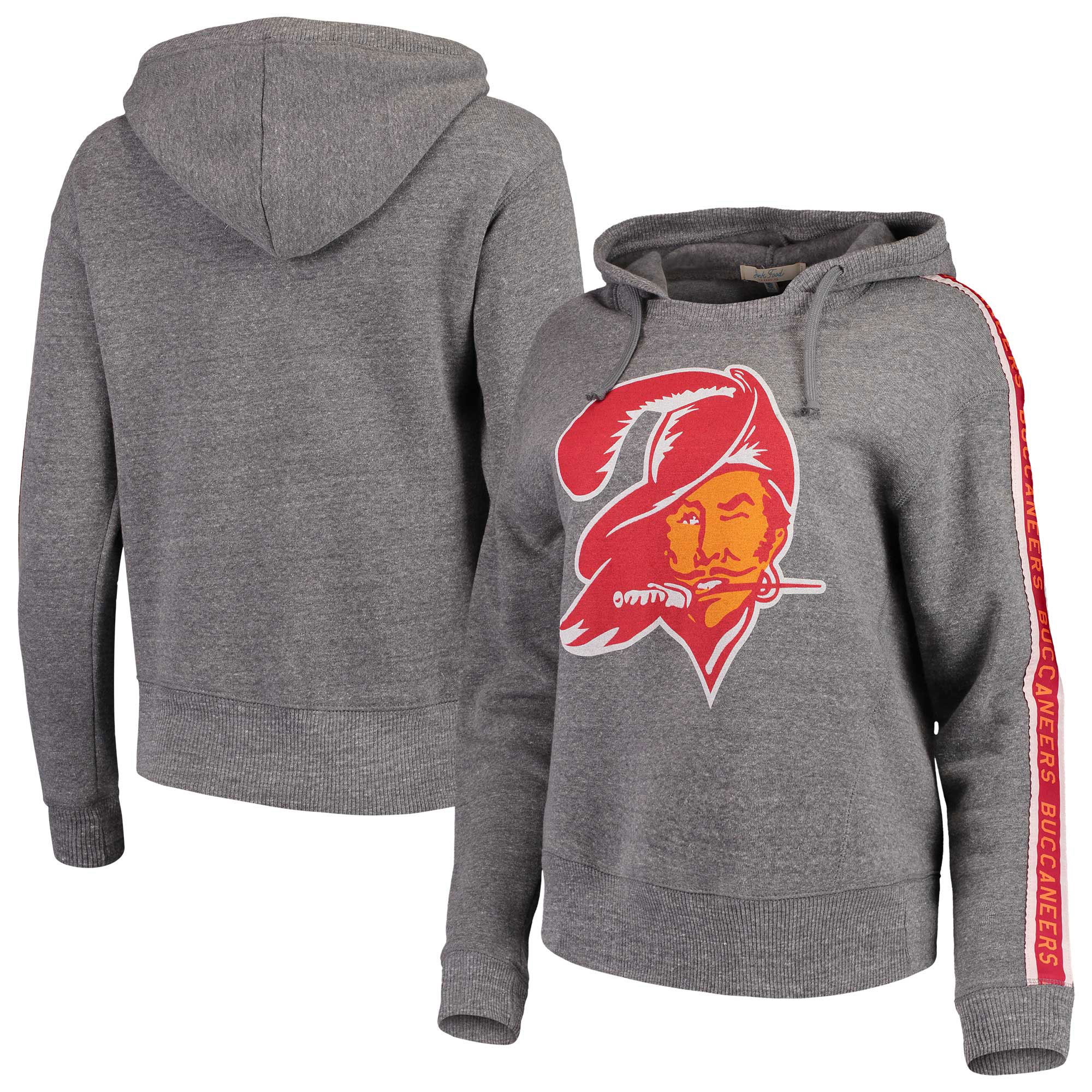 Tampa Bay Buccaneers Junk Food Women's Sunday Liberty Pullover Hoodie - Heathered Gray