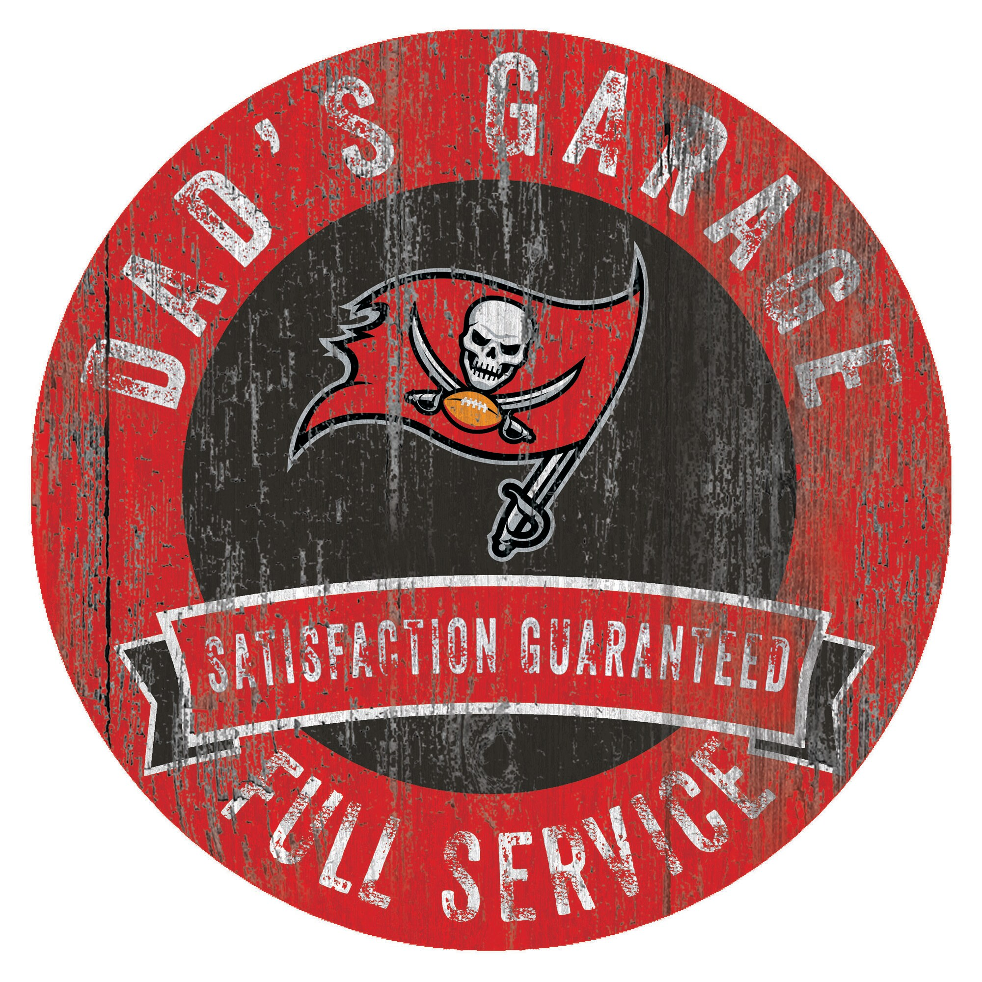"Tampa Bay Buccaneers 12"" x 12"" Dad's Garage Sign"