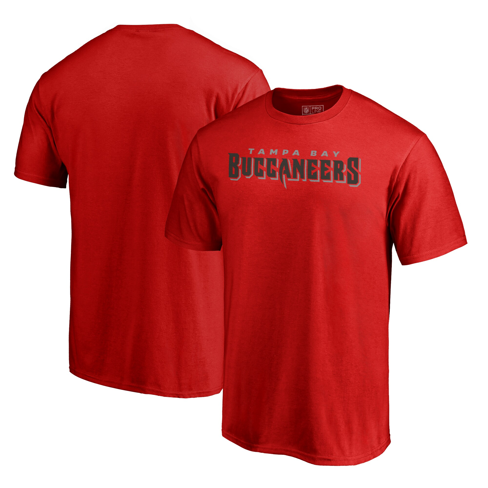 Tampa Bay Buccaneers NFL Pro Line by Fanatics Branded Wordmark Big & Tall T-Shirt - Red