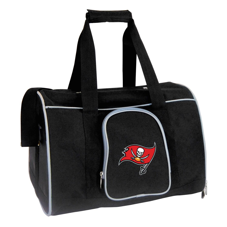 "Tampa Bay Buccaneers Small 16"" Pet Carrier - Black"