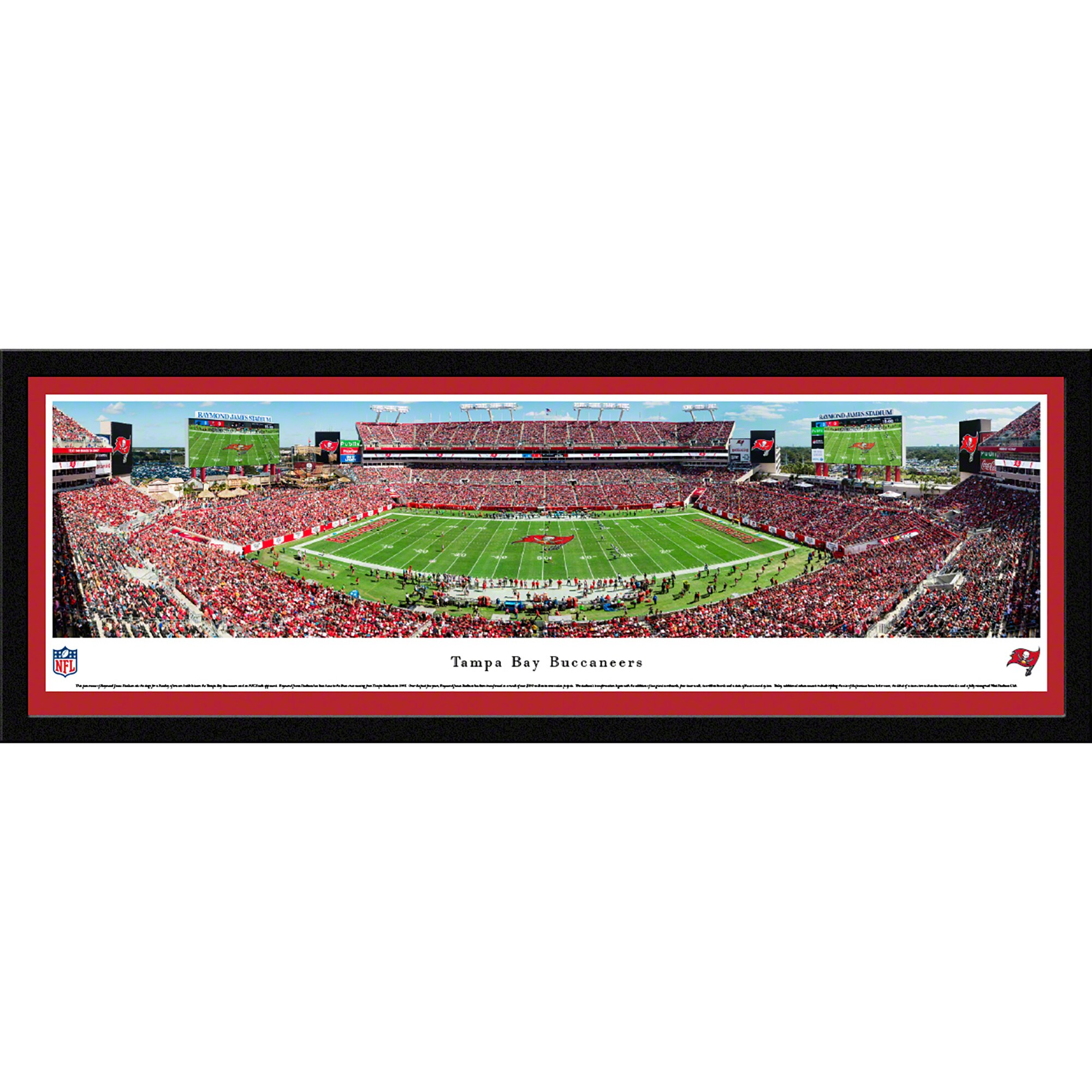 "Tampa Bay Buccaneers 42"" x 15.5"" 50-Yard Line Select Framed Panoramic"