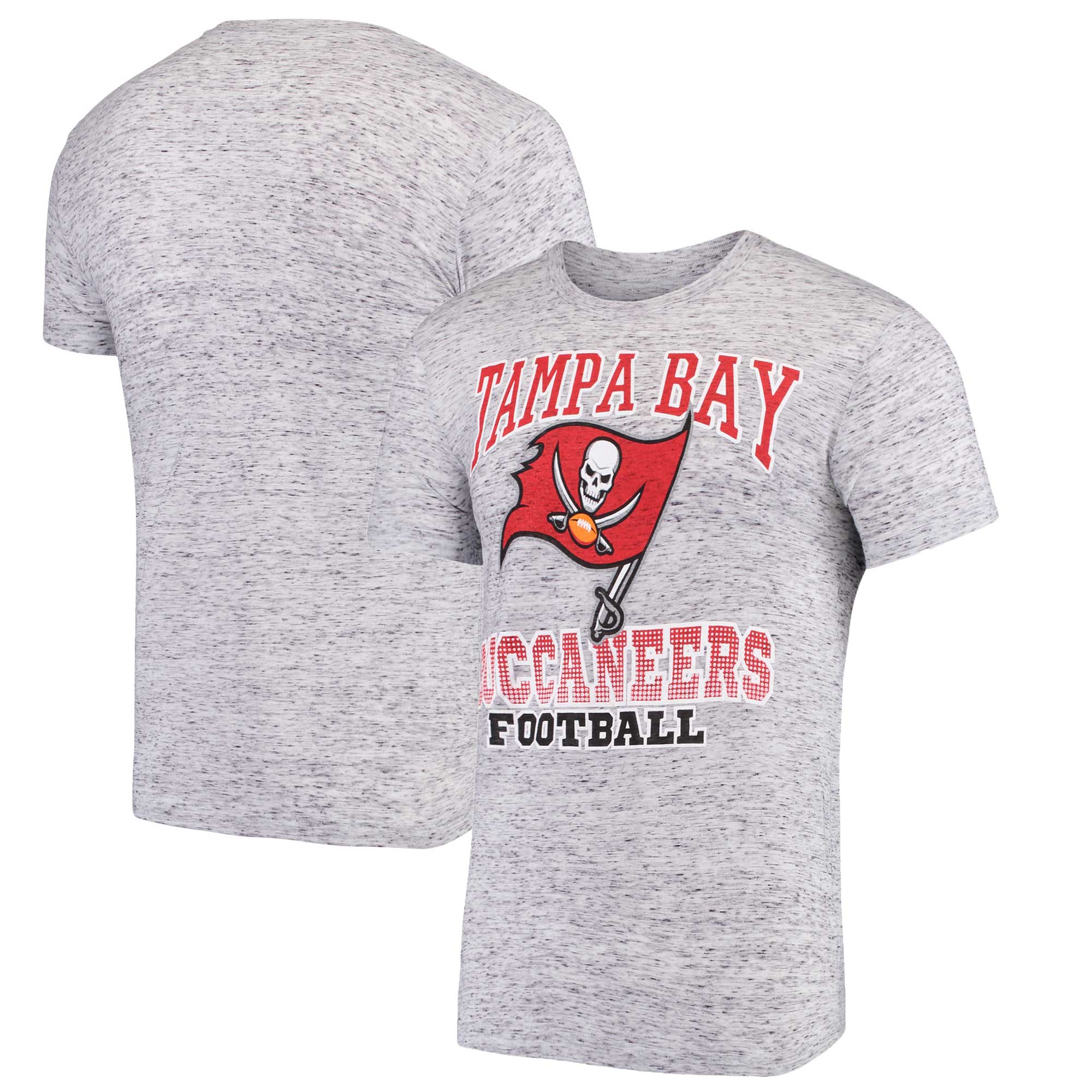 Tampa Bay Buccaneers G-III Sports by Carl Banks Outfield Speckle T-Shirt - Gray