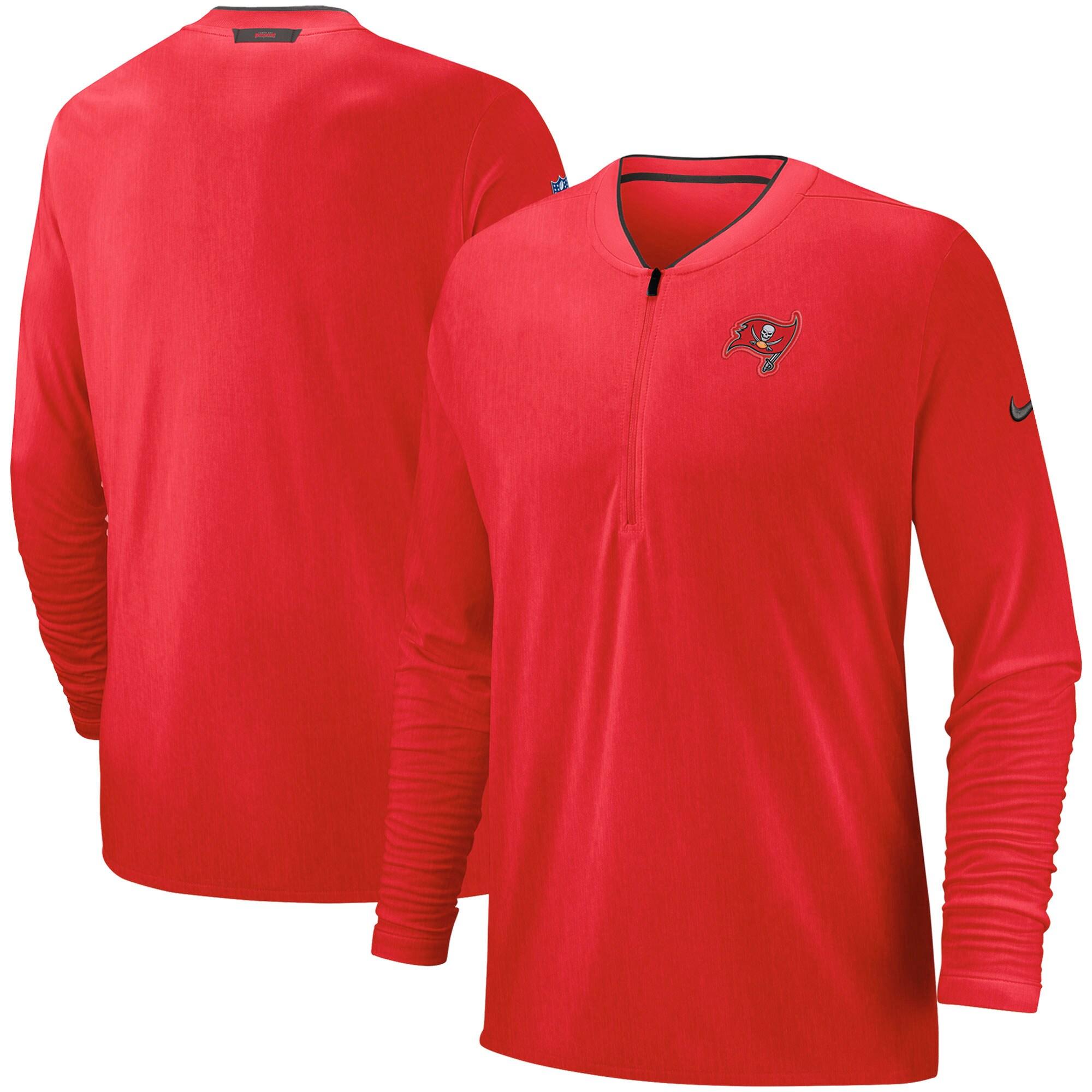 Tampa Bay Buccaneers Nike Sideline Coaches Half-Zip Pullover Jacket - Red
