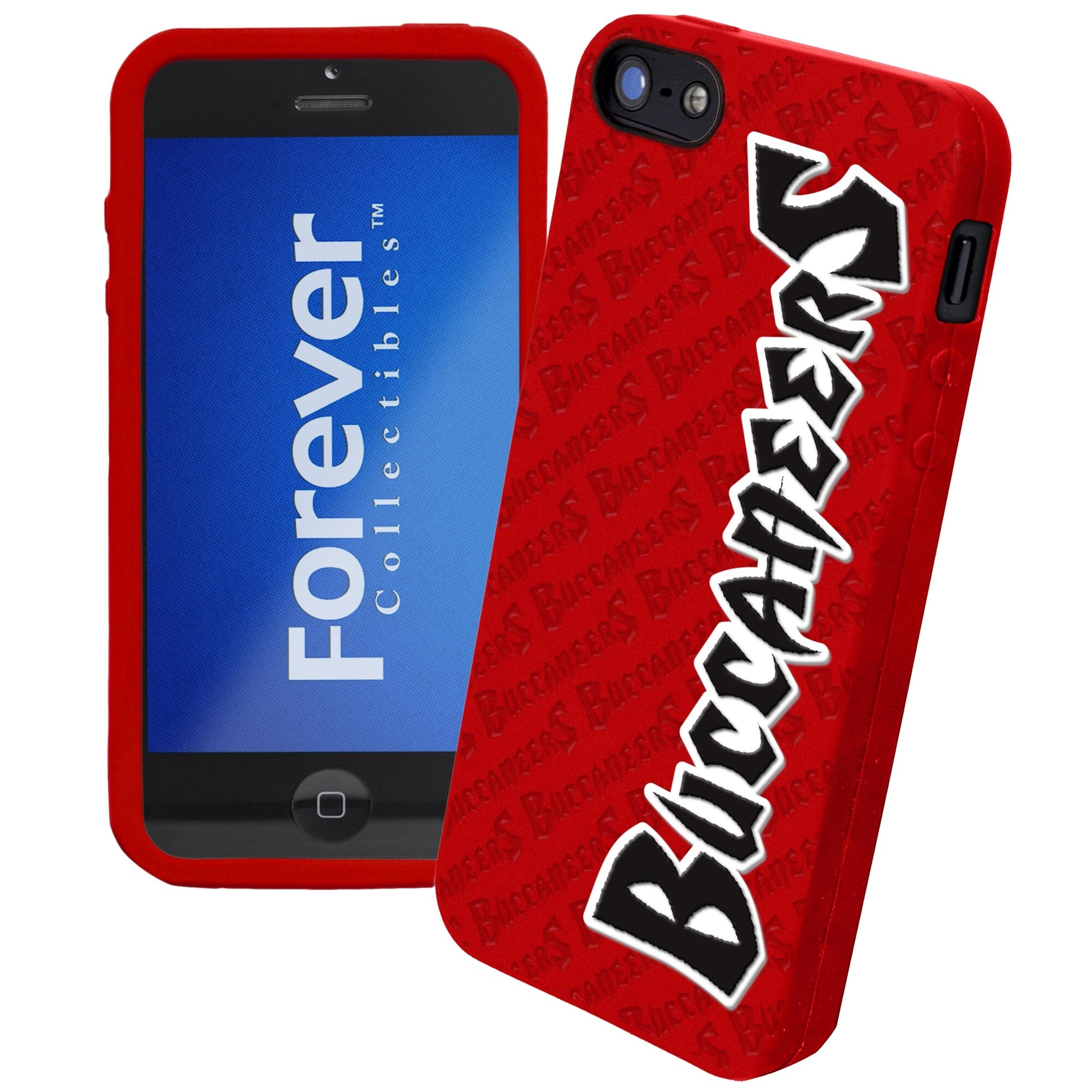 Tampa Bay Buccaneers Silicone iPhone 5 Cover - Red