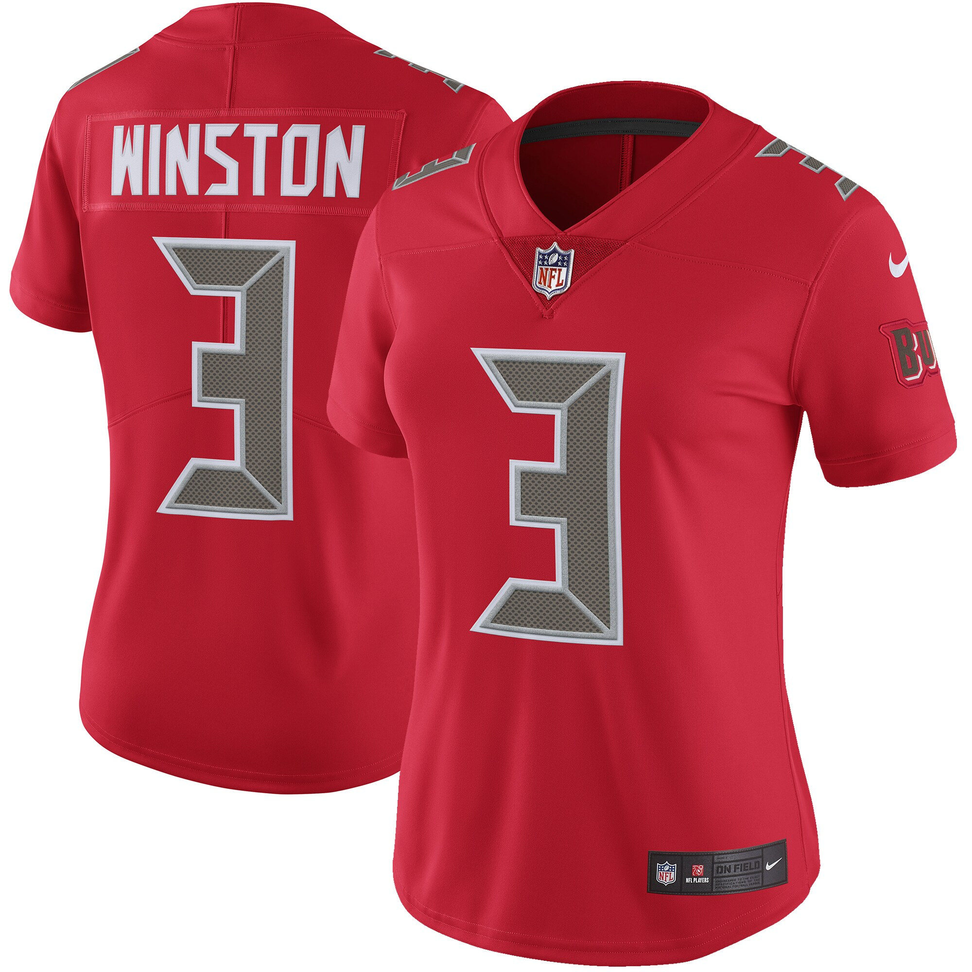 Jameis Winston Tampa Bay Buccaneers Nike Women's Color Rush Limited Jersey - Red