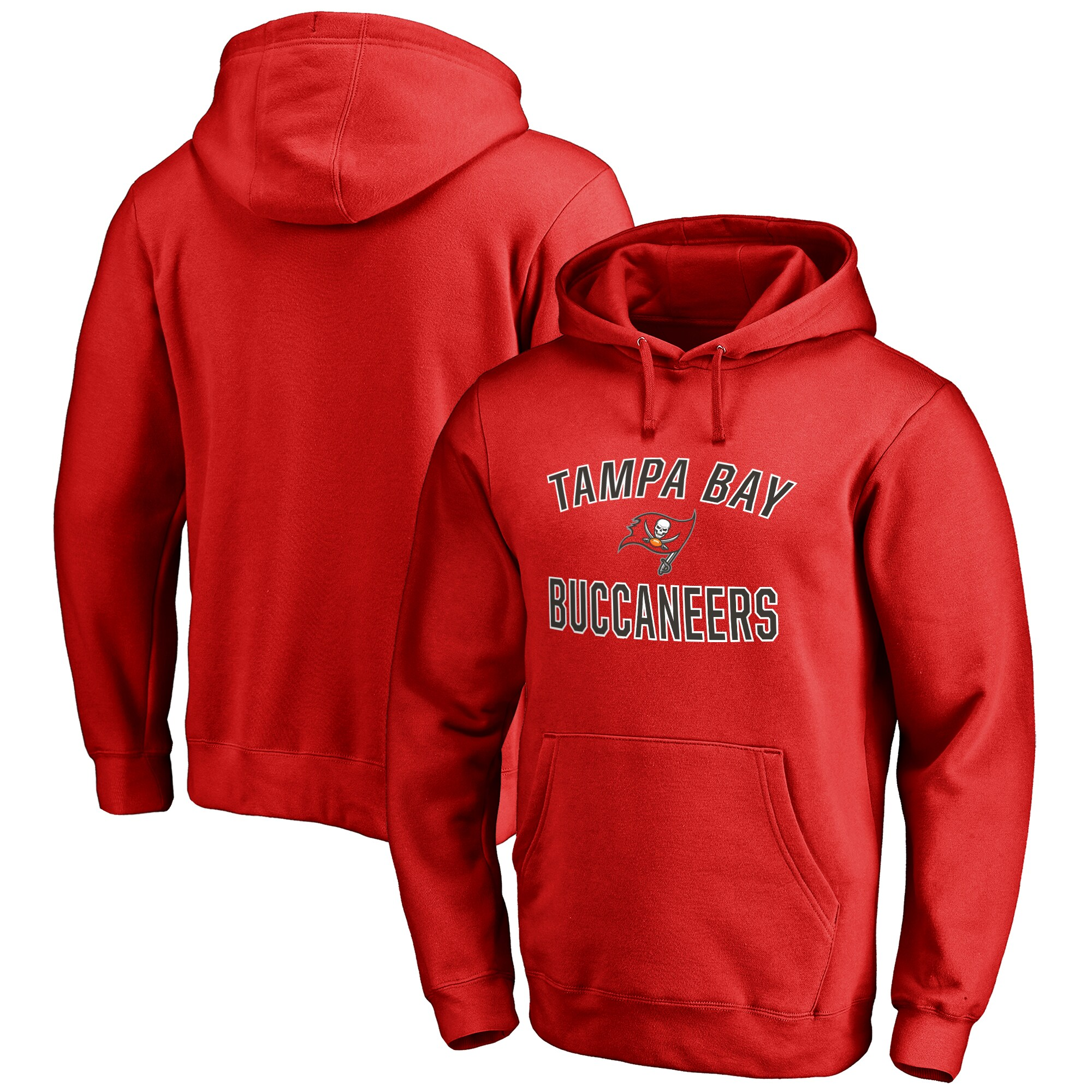 Tampa Bay Buccaneers NFL Pro Line Big & Tall Victory Arch Pullover Hoodie - Red