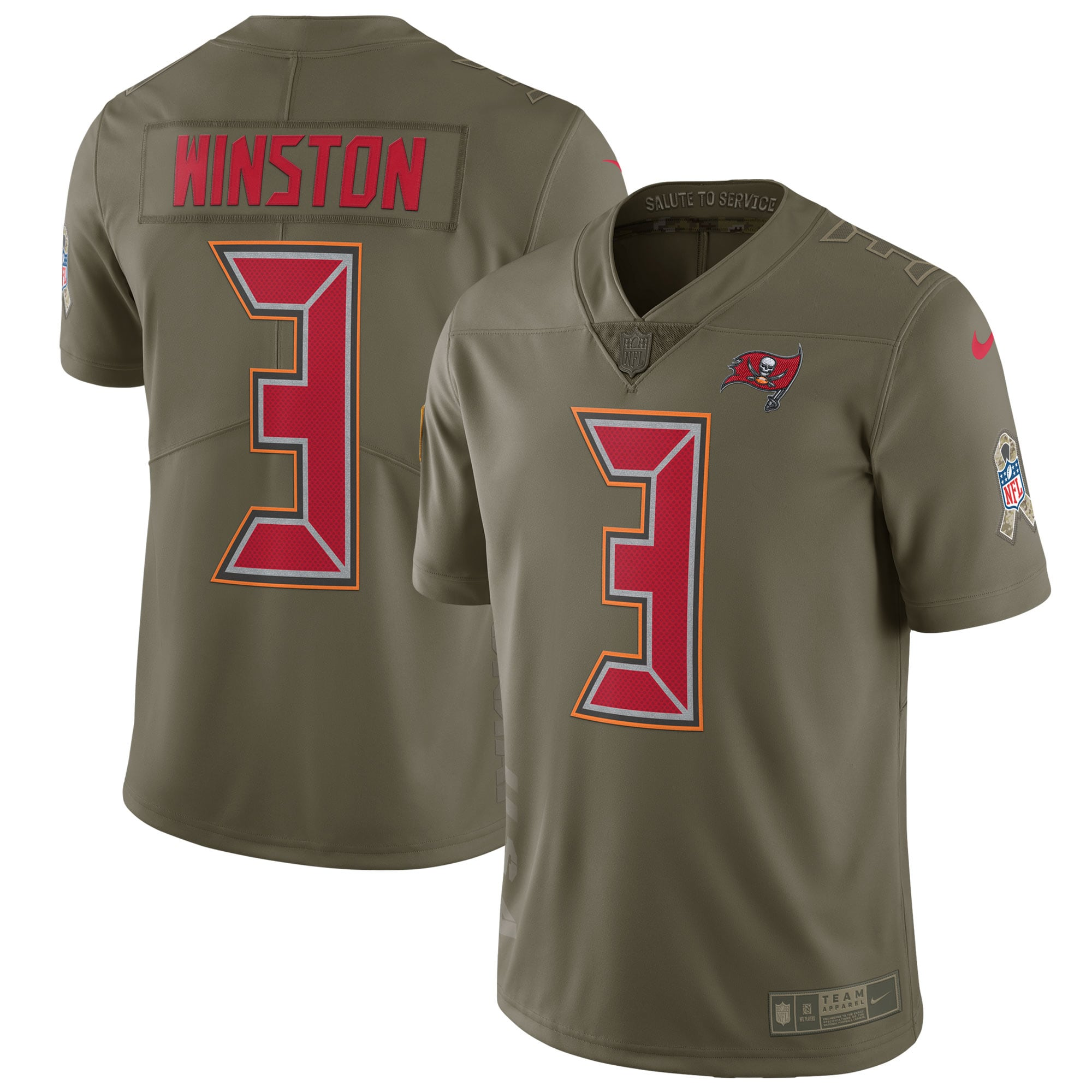 Jameis Winston Tampa Bay Buccaneers Nike Salute to Service Limited Jersey - Olive
