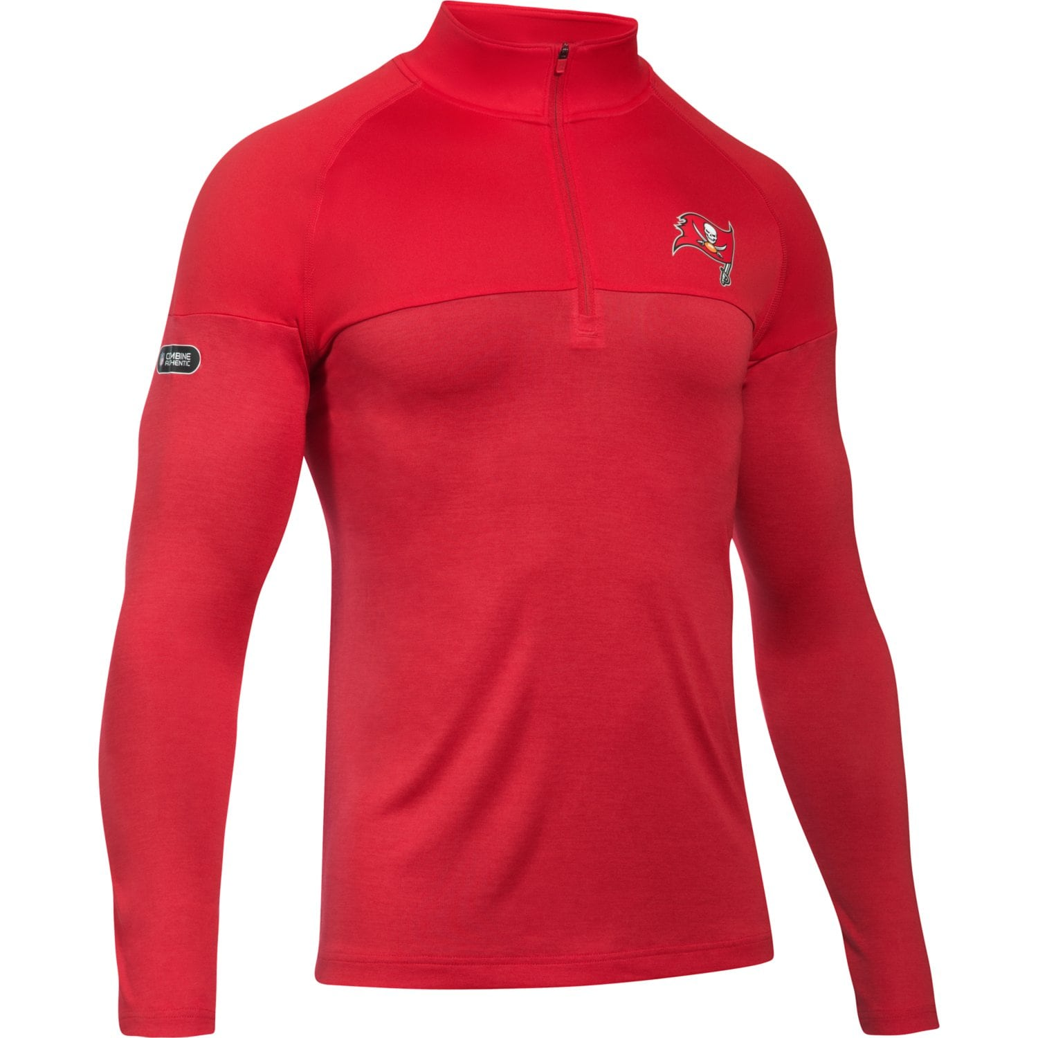 Tampa Bay Buccaneers Under Armour Combine Authentic Novelty Tech Quarter-Zip Pullover Jacket - Red