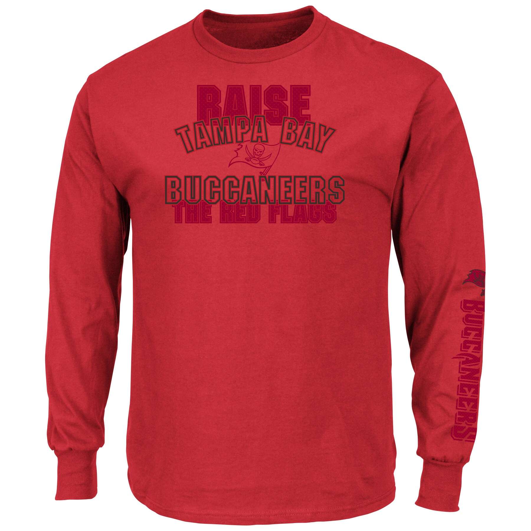 Tampa Bay Buccaneers Majestic Primary Receiver Slogan Long Sleeve T-Shirt - Red