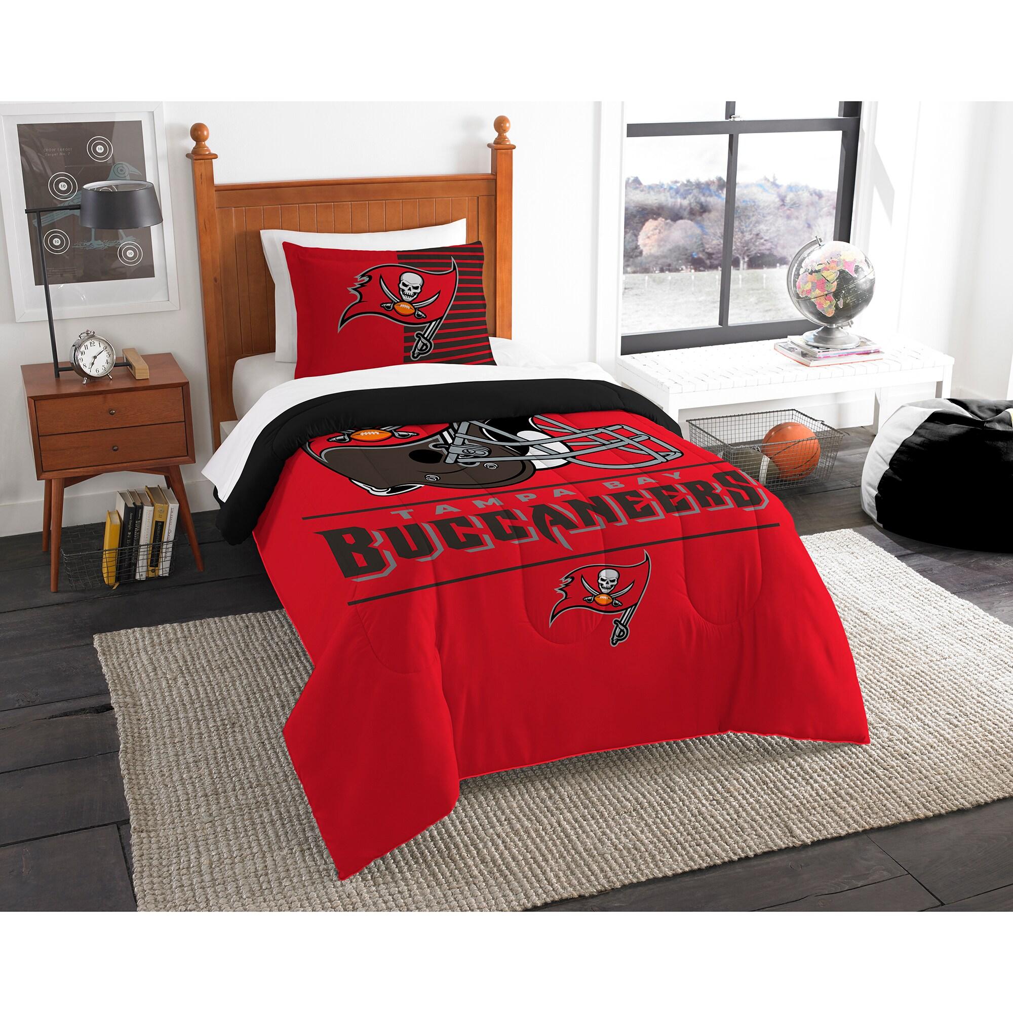 Tampa Bay Buccaneers The Northwest Company NFL Draft Twin Comforter Set